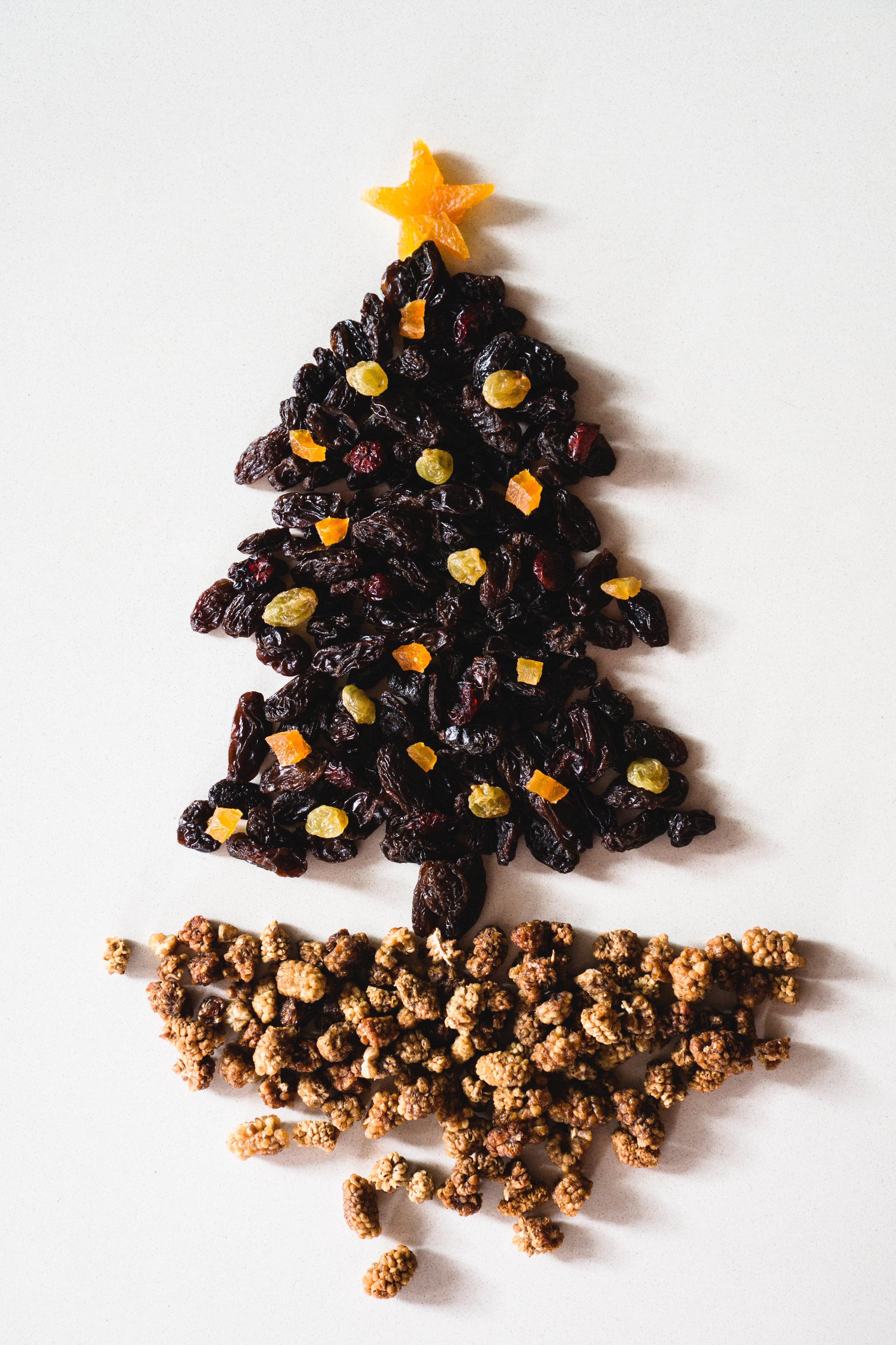 Dried Fruit Christmas Tree