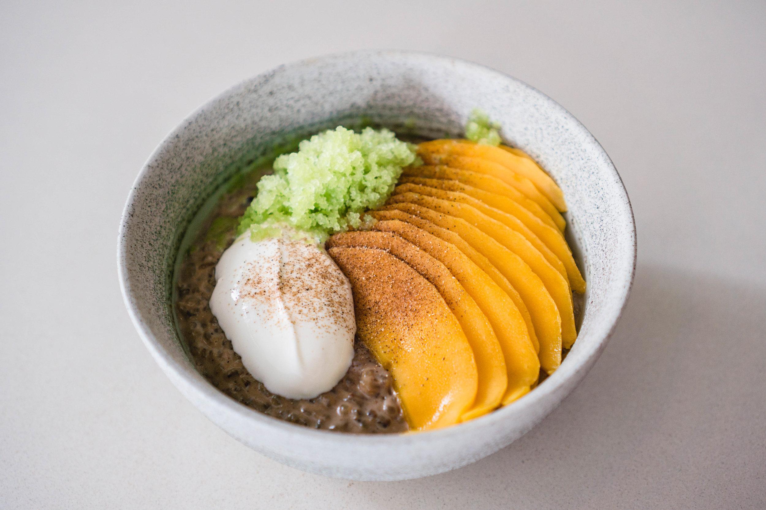 Mango Masala Rice Pudding
