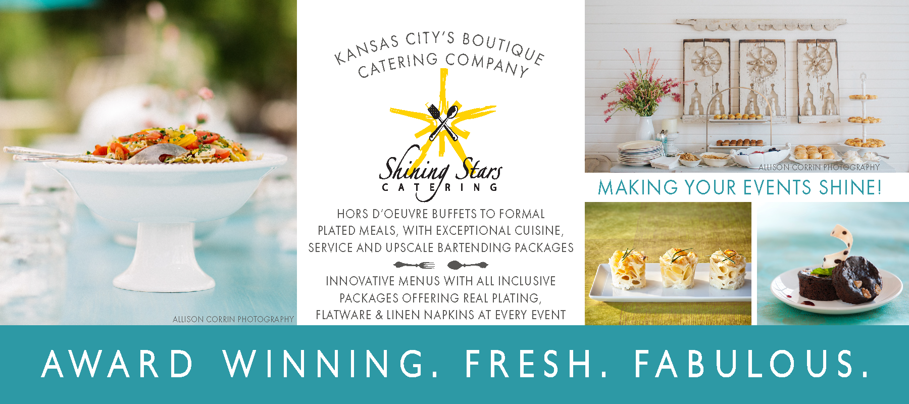 Rack Card for Shining Stars Catering