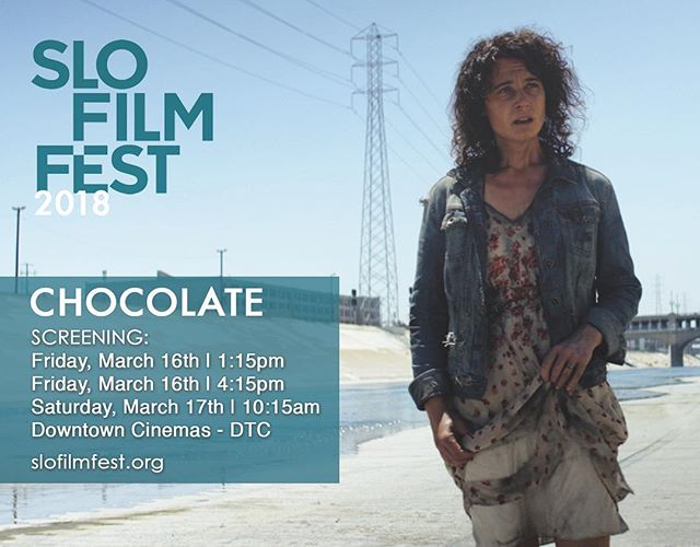 Meet the writer/director 👨🏻‍💻 🎬 @thiagodadalt and exec/producer 🎥 🙋🏼‍♀️ @dru2110 after each screening of #chocolate and Q&A this weekend at @sloiff  We hope to see you there 🥂🎞 #filmfestival #shortfilm #slofilmfest #chocolateshortfilm #alzheimers #homeless #filmthatmatters #letsmakeachange #filmmaker #lalaland #2018