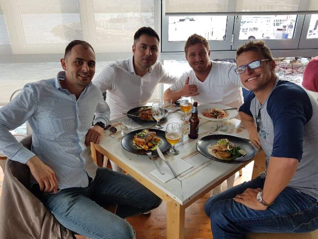 Simply co-founders  Alexander Adamyan  and  Harut Muradyan  celebrating successful launch of a new product with Chris Strode, Founder & Senior Advisor at  Invoice2Go , and Brendon Cooke, CEO of BCMC