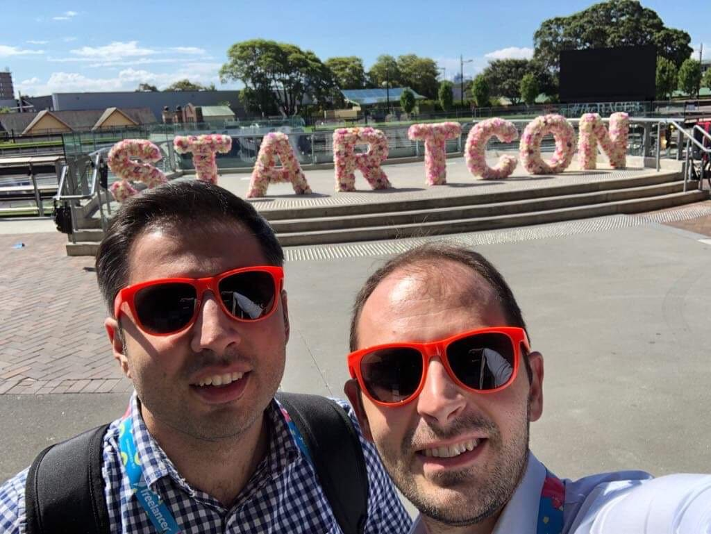 Simply co-founders Alex and Harut attended  StartCon  conference in Sydney, Australia