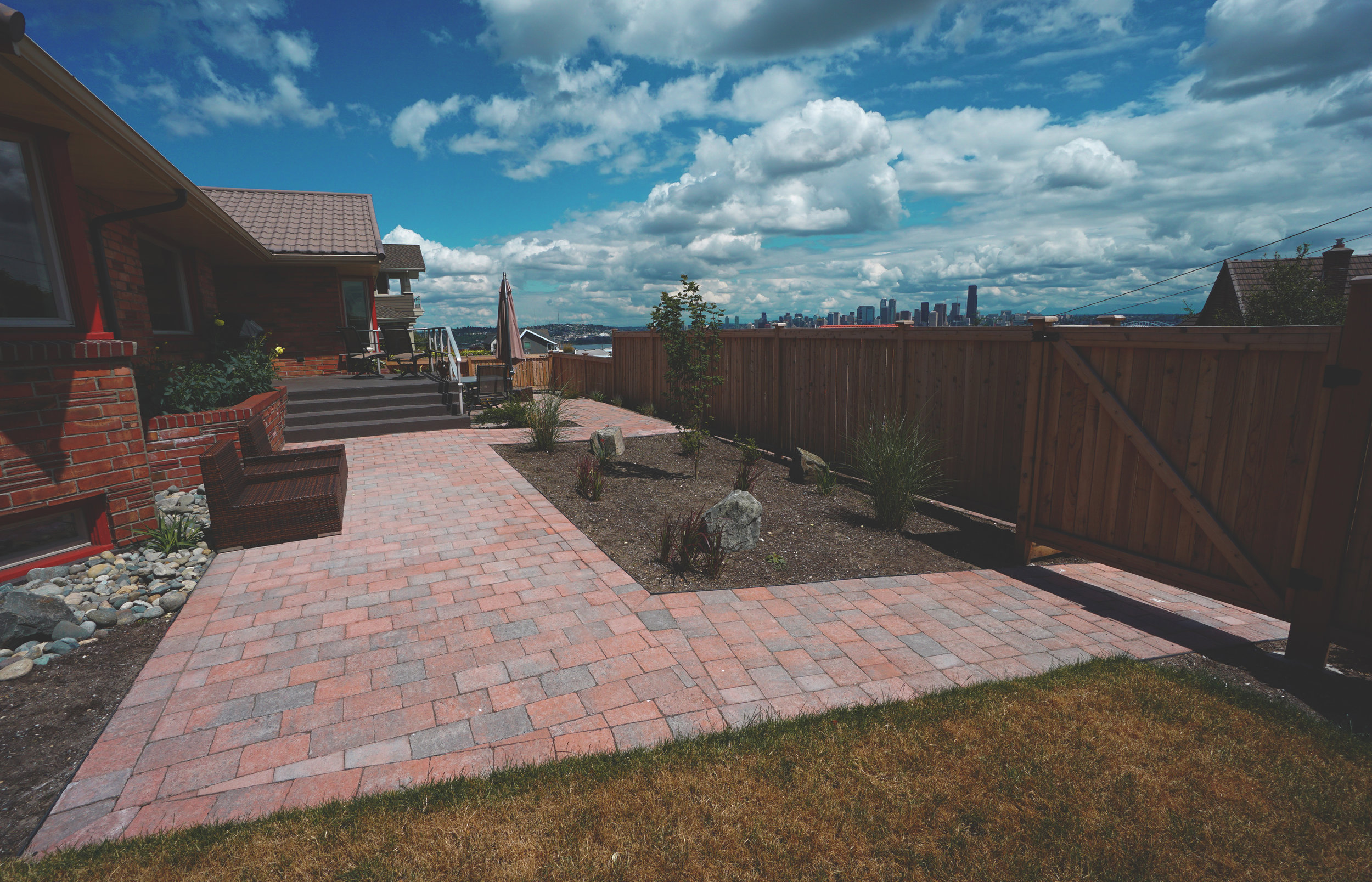 Paver walkway  (Built with Roman Dominion Paver)