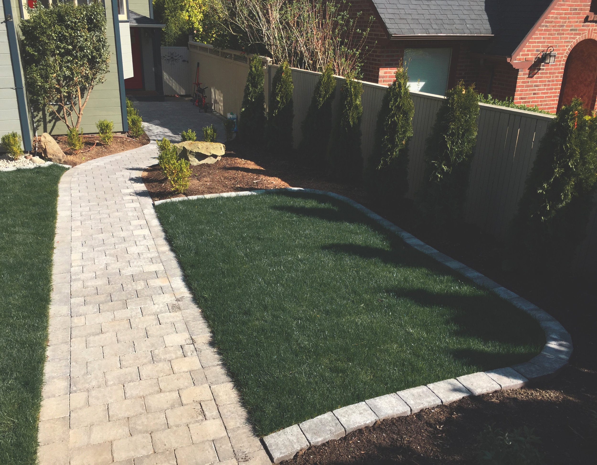 Paver walkway  (Built with Rumblestone Paver)