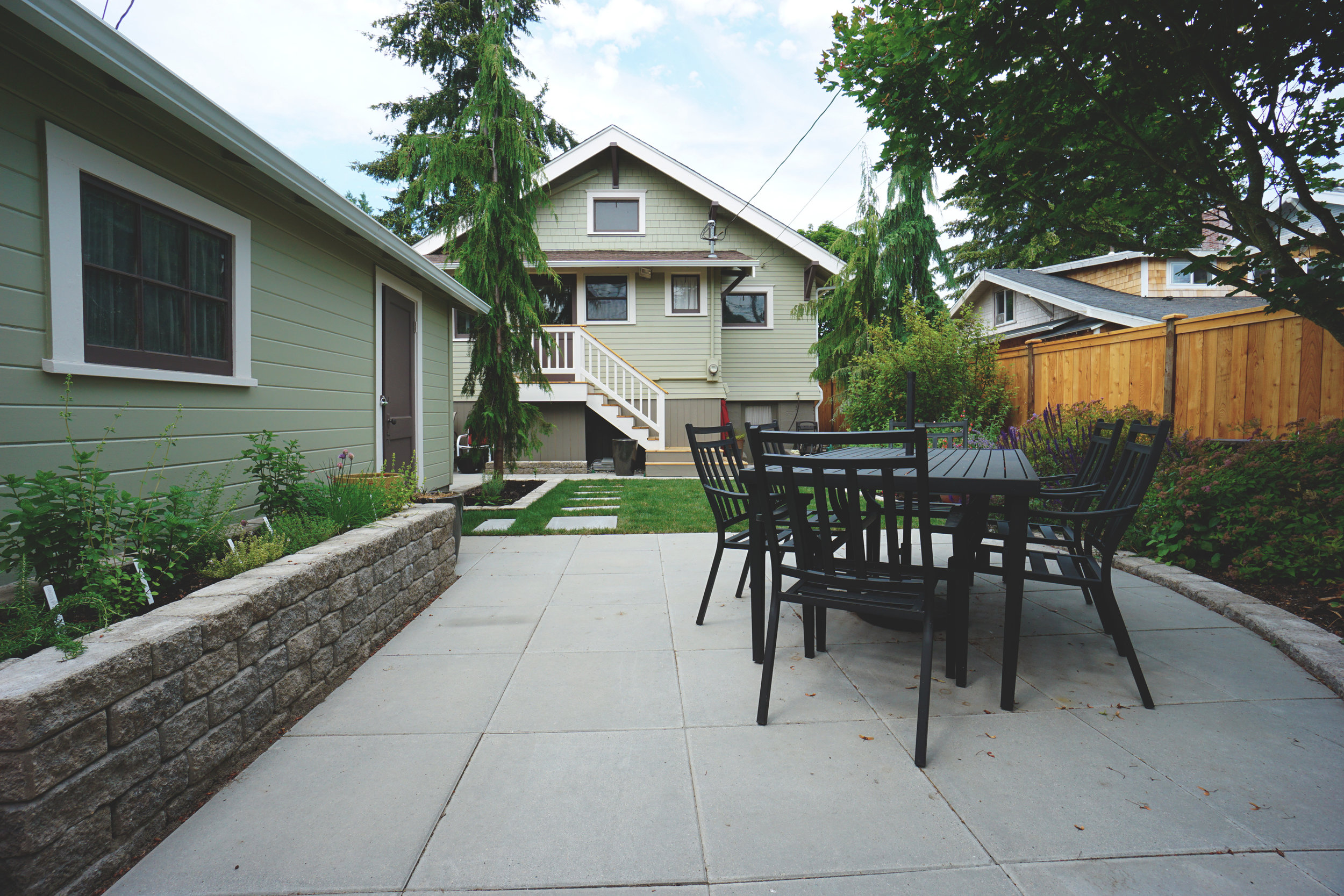"""Modern paver patio  (Built with 24"""" Vancouver Bay pavers)"""