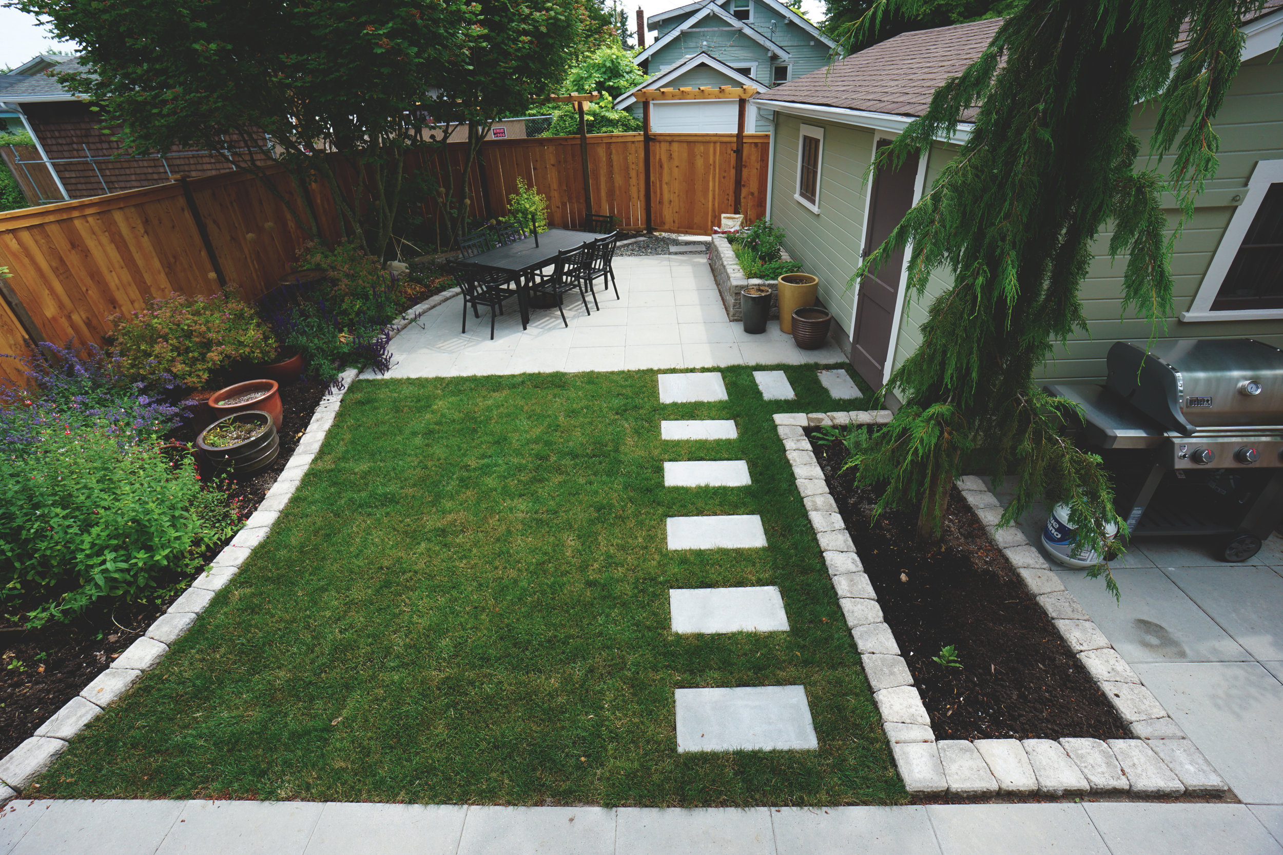 """Modern paver steps  (Built with 12"""" x 24"""" Vancouver Bay Pavers)"""