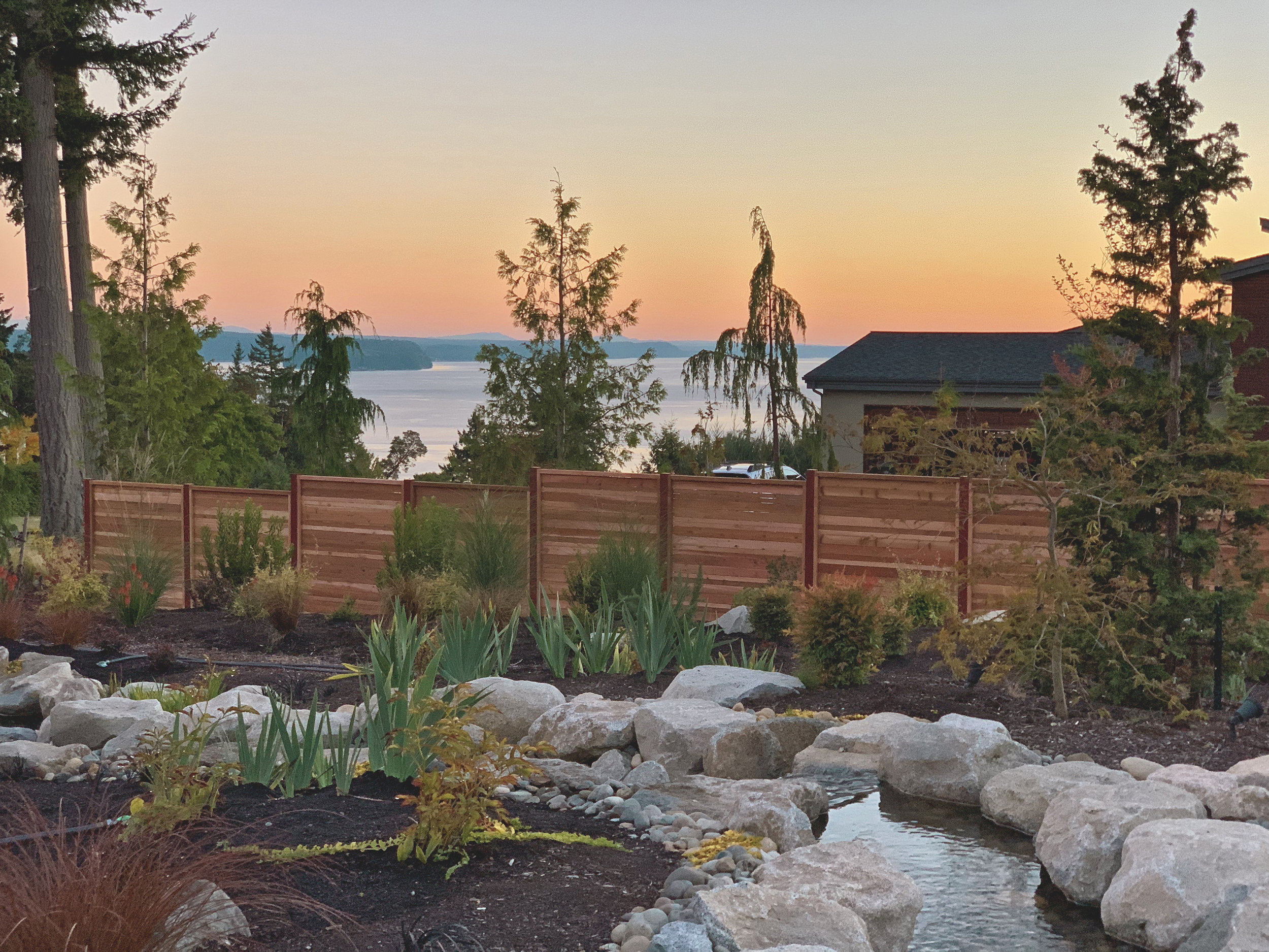 Tacoma Modern Horizontal Cedar Fence Build Fox Island