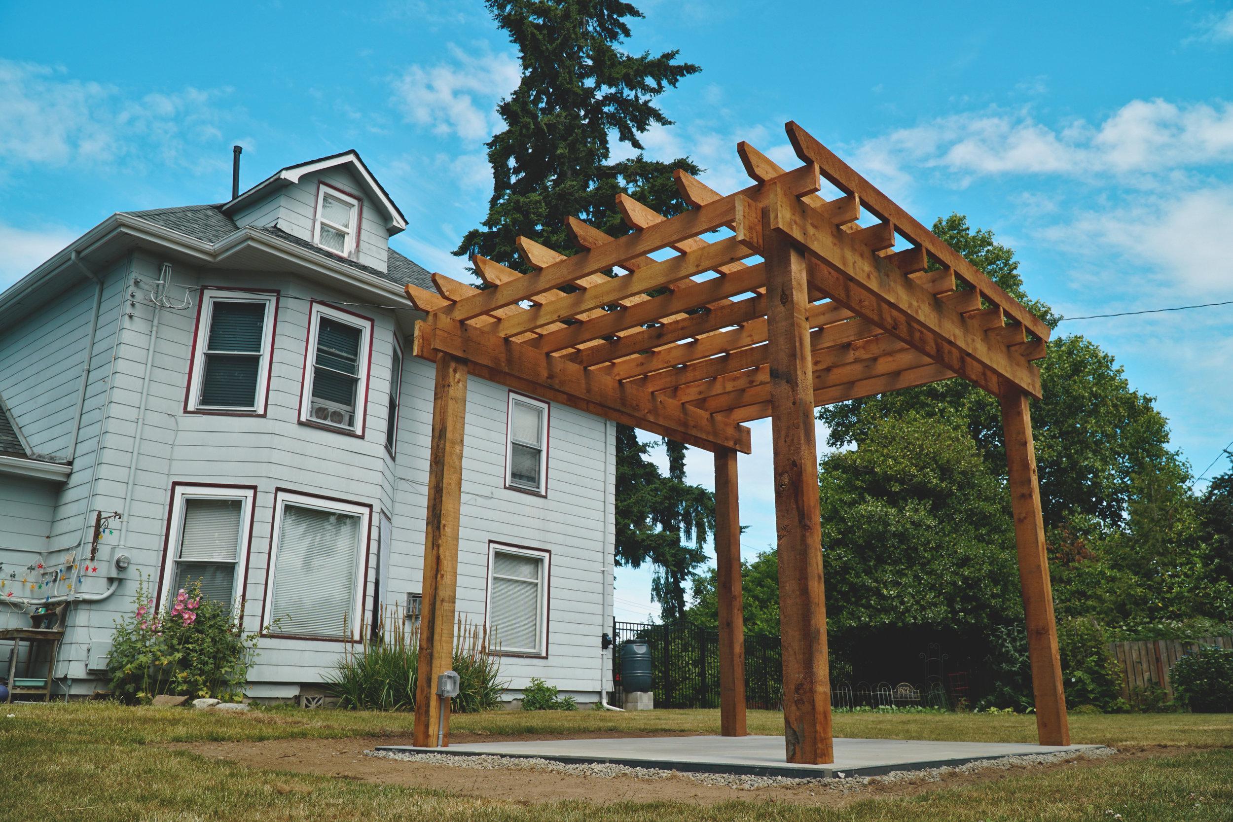 Tacoma Pergola Construction