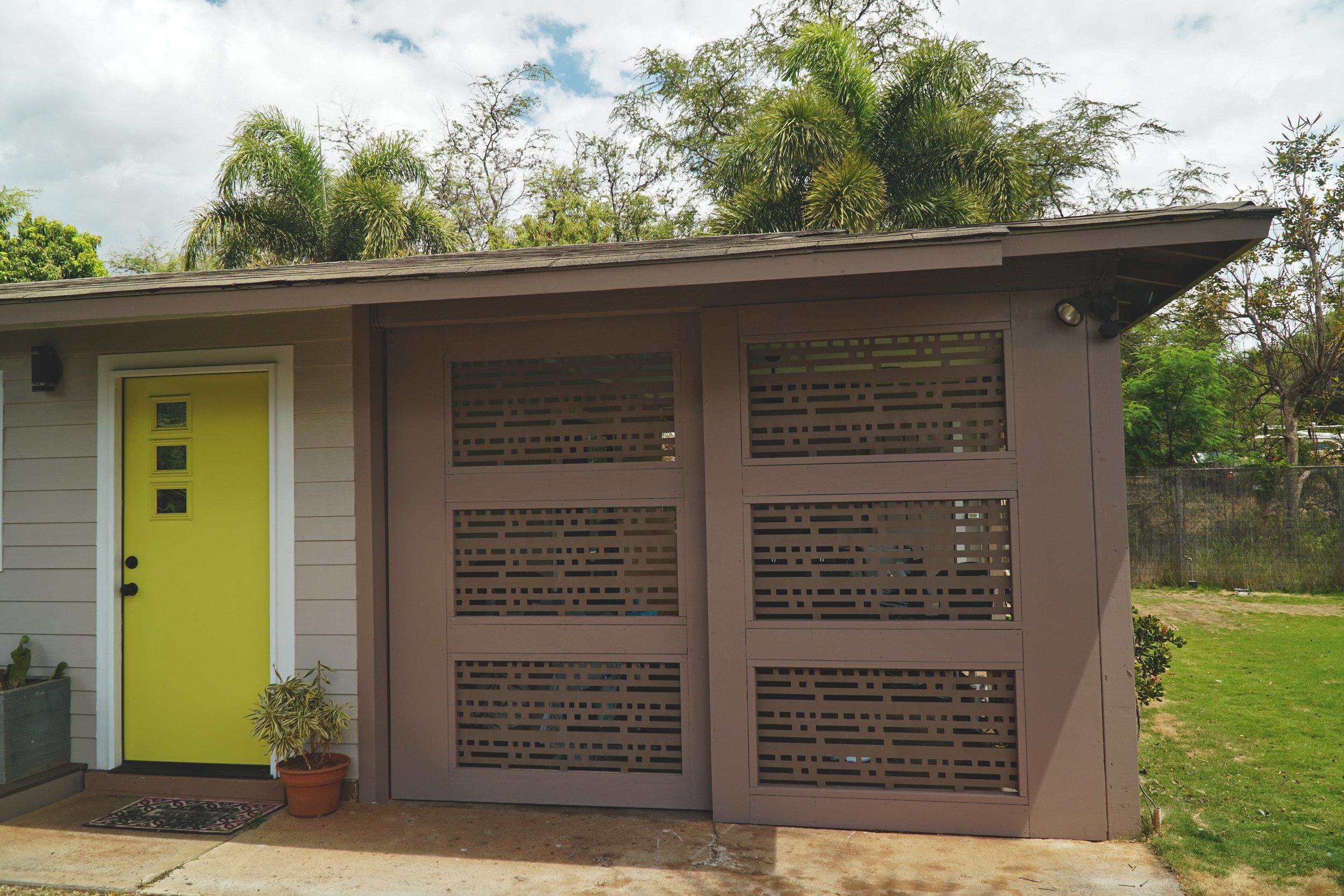 Modern Outdoor Barn Door Privacy Screen Lanai Patio