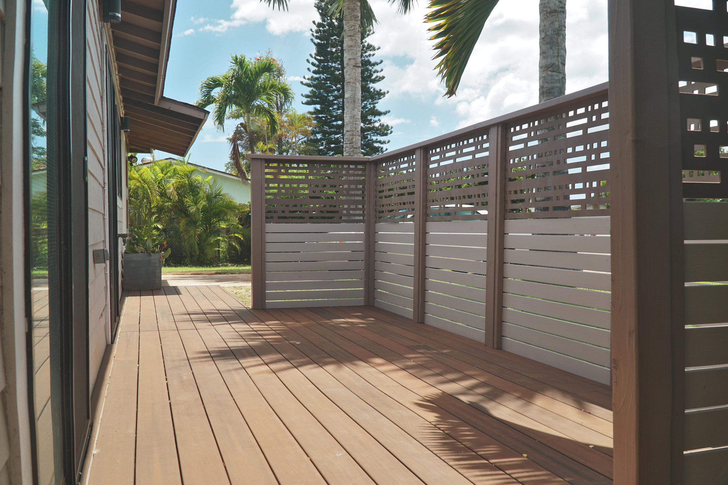 Composite Deck Privacy Fence Panel