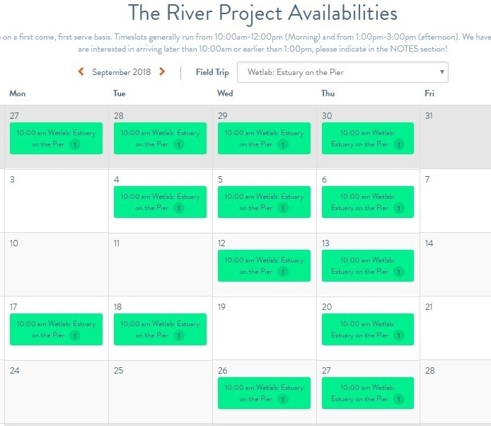TRP Trip Availability Calendar on  Explorable Places! !