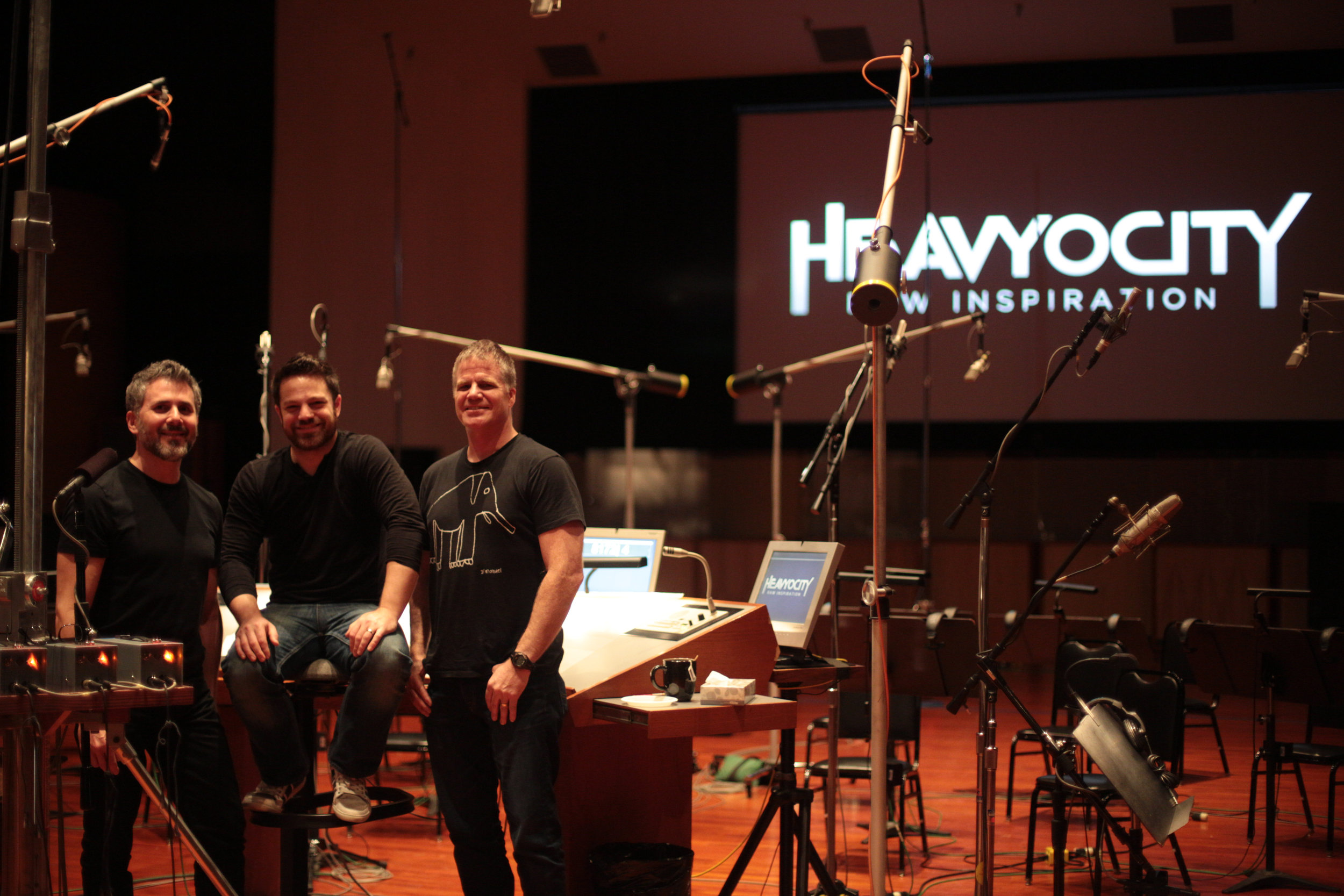 Neil Goldberg, Ari Winter, and Dave Fraser of Heavyocity