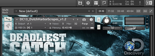 Native Instruments Deadliest Catch  Custom Sample Library