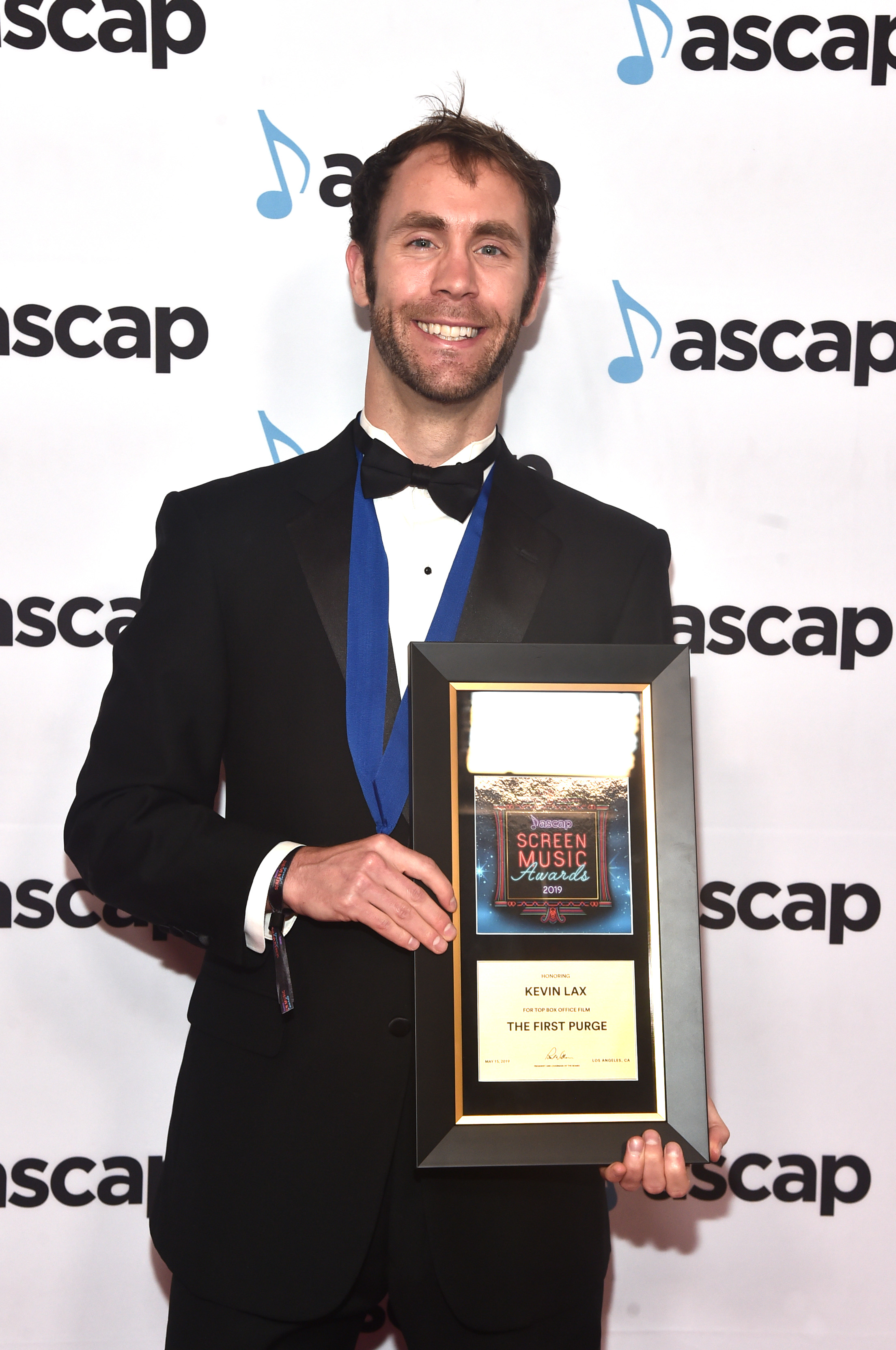 BEVERLY HILLS, CALIFORNIA - MAY 15: Composer Kevin Lax, winner of the award for Top Box Office Film 'The First Purge' attends the ASCAP 2019 Screen Music Awards at The Beverly Hilton Hotel on May 15, 2019 in Beverly Hills, California. (Photo by Alberto E. Rodriguez/Getty Images for ASCAP)