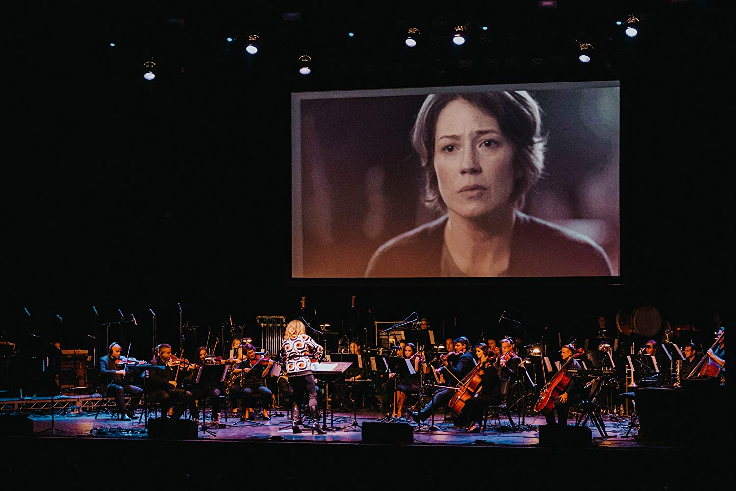 Ronit Kirchman conducting a live suite of music from The Sinner with the Hollywood Chamber Orchestra at The Wiltern on September 4, 2018.
