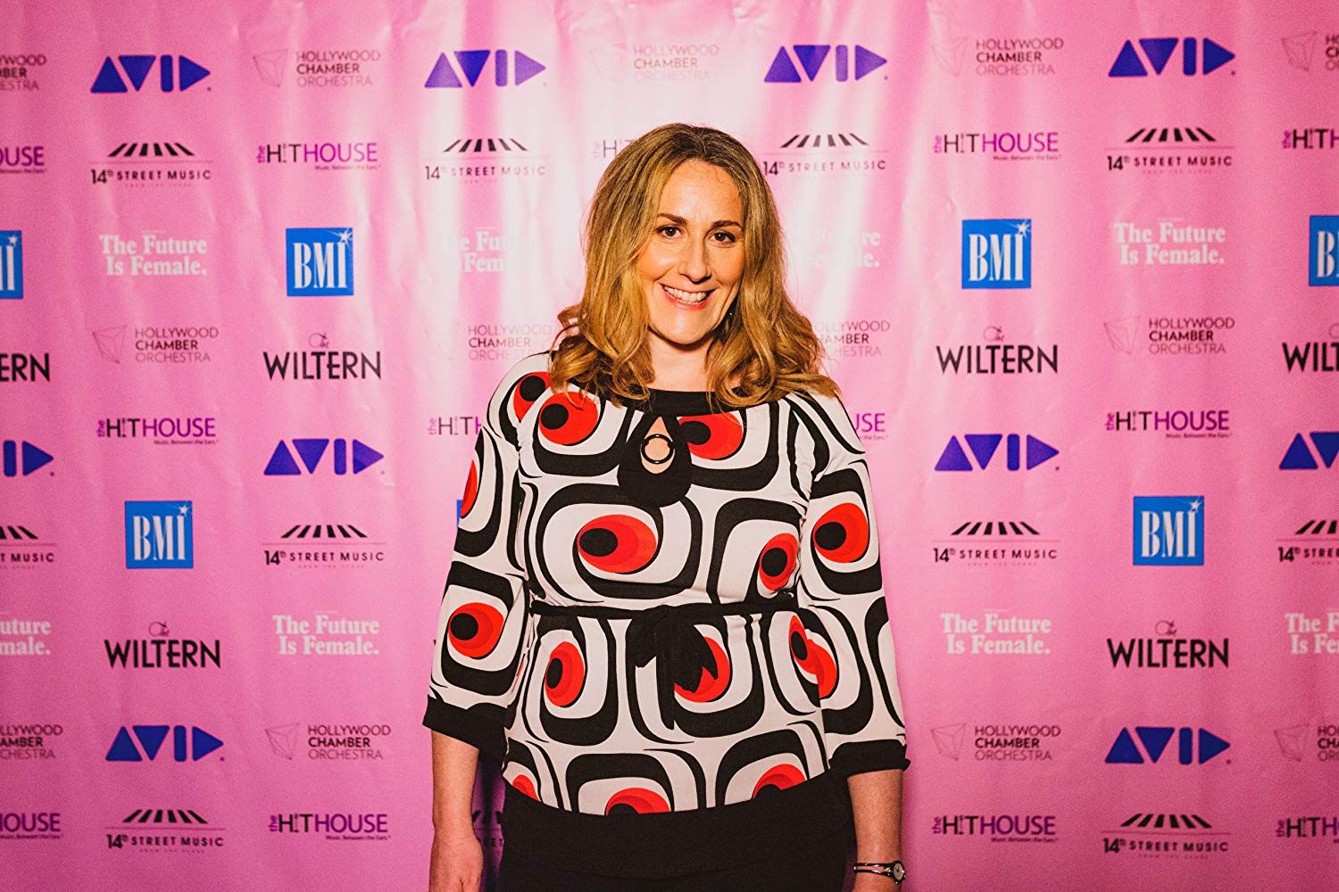 Ronit Kirchman on the red carpet for The Future is Female concert at the Wiltern in 2018.