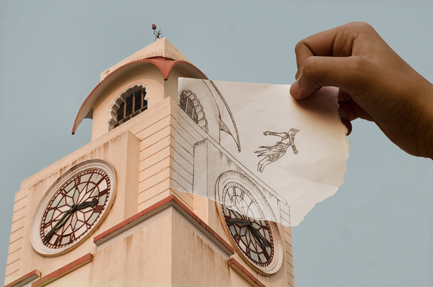 Camera vs Pencil, the Duality project   As a part of my college's cultural fest, Oasis, these photos were presented along with others in the photography club exhibition.   Credits:  Illustration: Rohit Pamnani Editing:   Shwetabh Sameer   ,    Prabhat Gupta