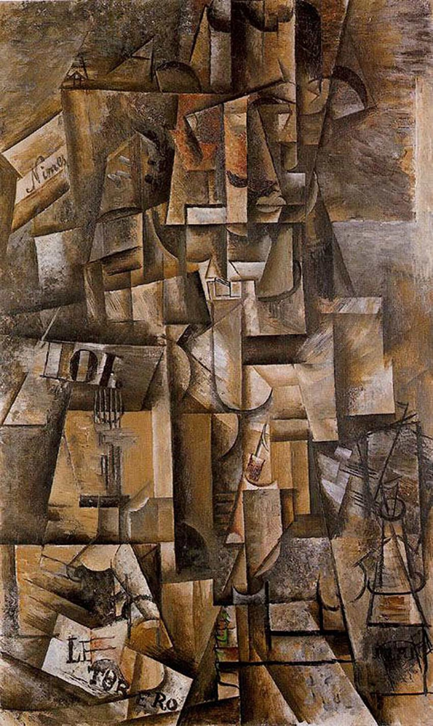 Pablo Picasso  The Torero or the Aficionado, 1912  Oil on canvas, 135x82cm Basle, Kunstmuseum