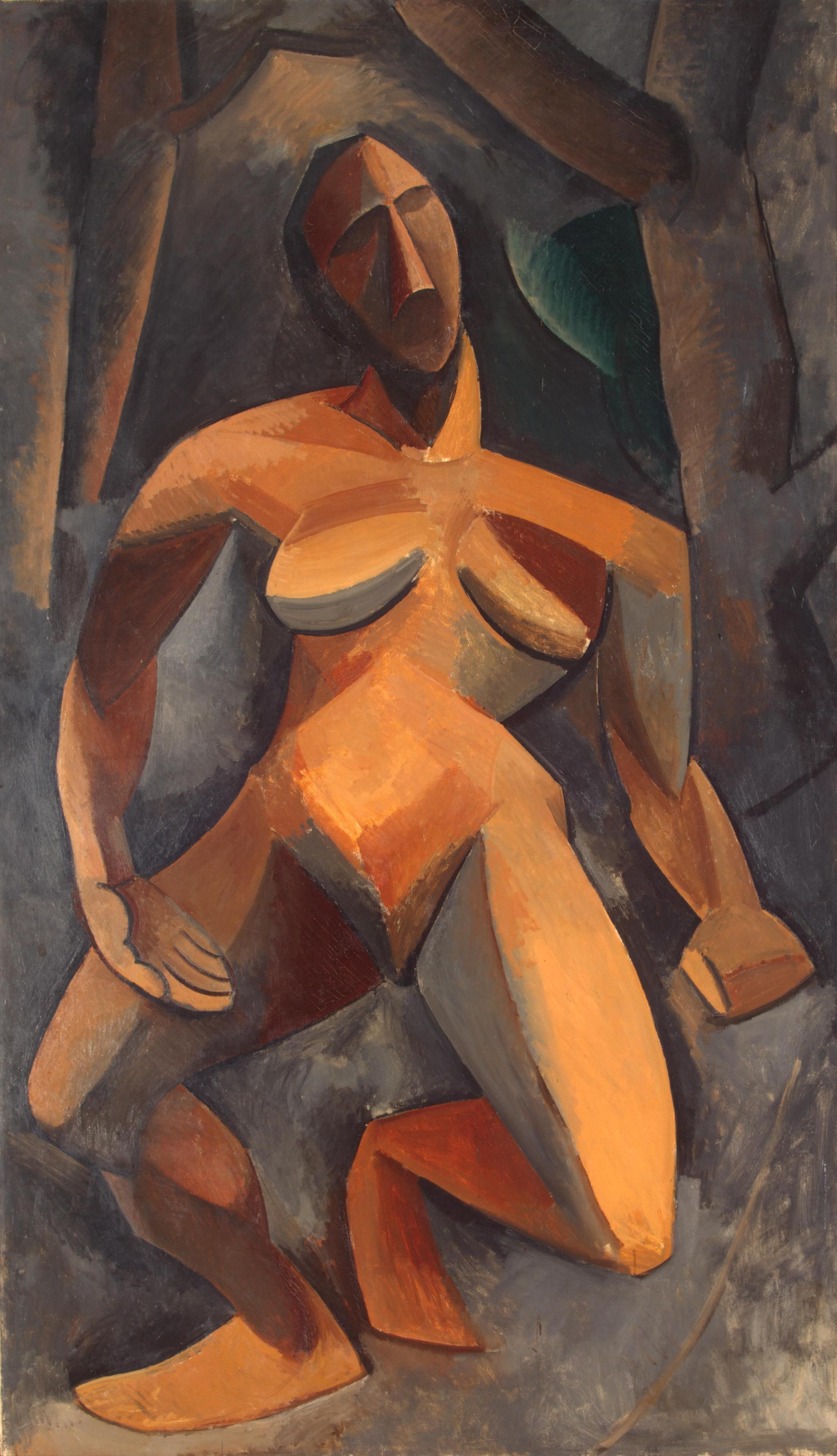 Pablo Picasso  La driade (Nu dans une forêt), 1908  Oil on canvas, 108 x 185 cm Hermitage Museum, Saint Petersburg, Russia