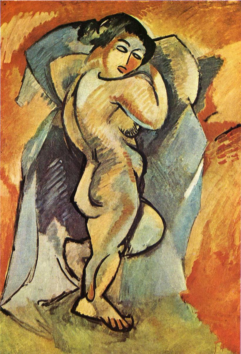 Georges Braque  Big Nude, 1908  Oil on canvas, 101 x 139.5 cm Private Collection