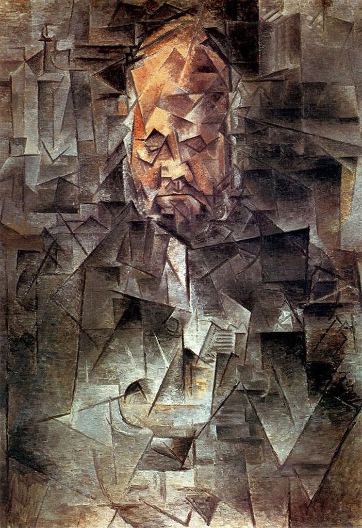 Pablo Picasso  Portrait de Ambroise Vollard. 1910  Oil on canvas, 65x92 cm Pushkin Museum, Moscow, Russia