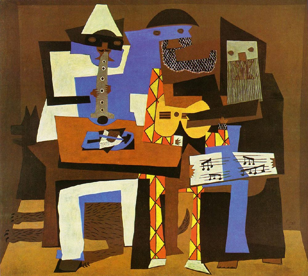 Pablo Picasso  Three Musicians, 1921  Oil on canvas, 2.01x2.23m Museum of Modern Art, New York
