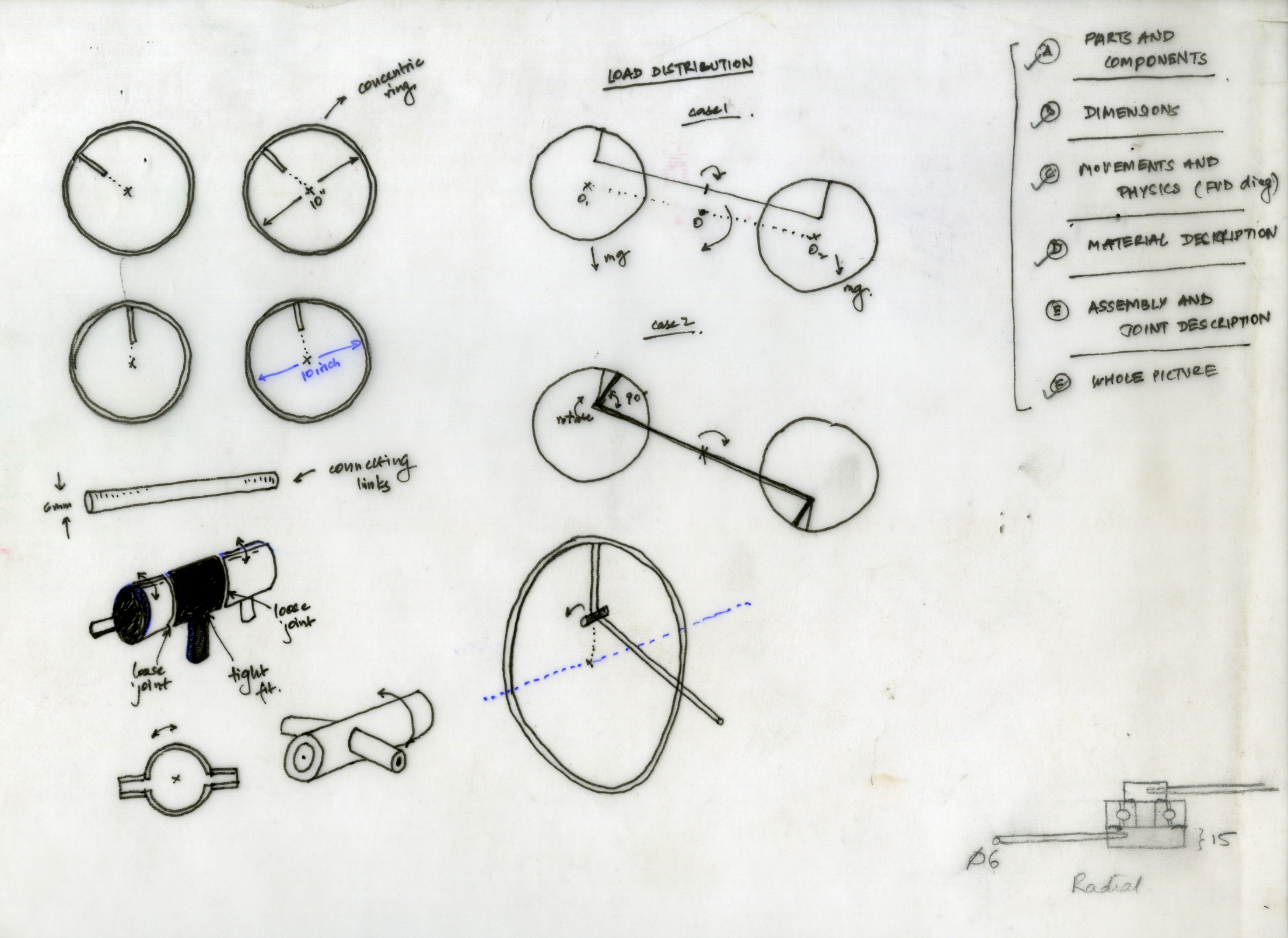 Rings and joints diagrams