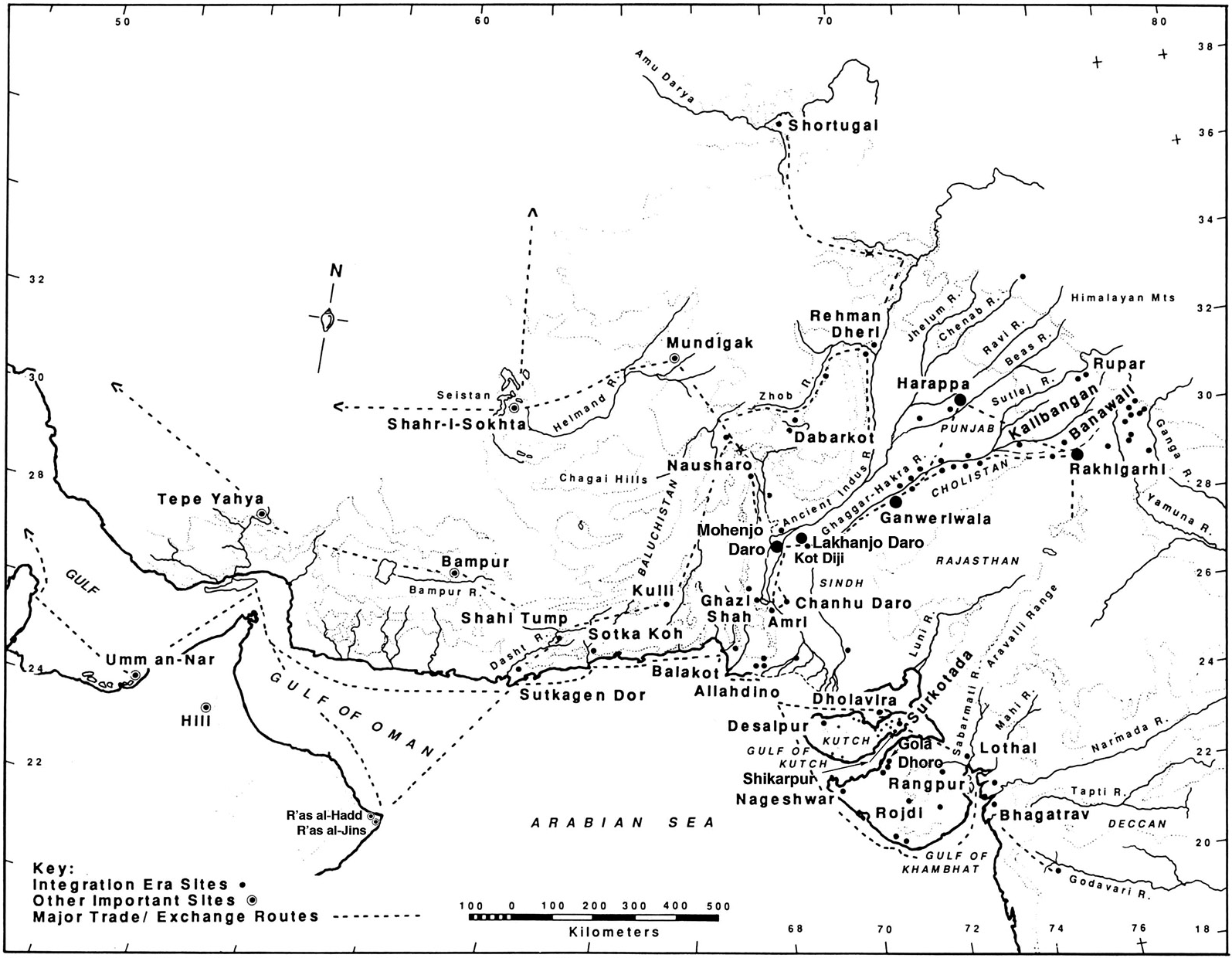 Extent of Indus Valley civilization
