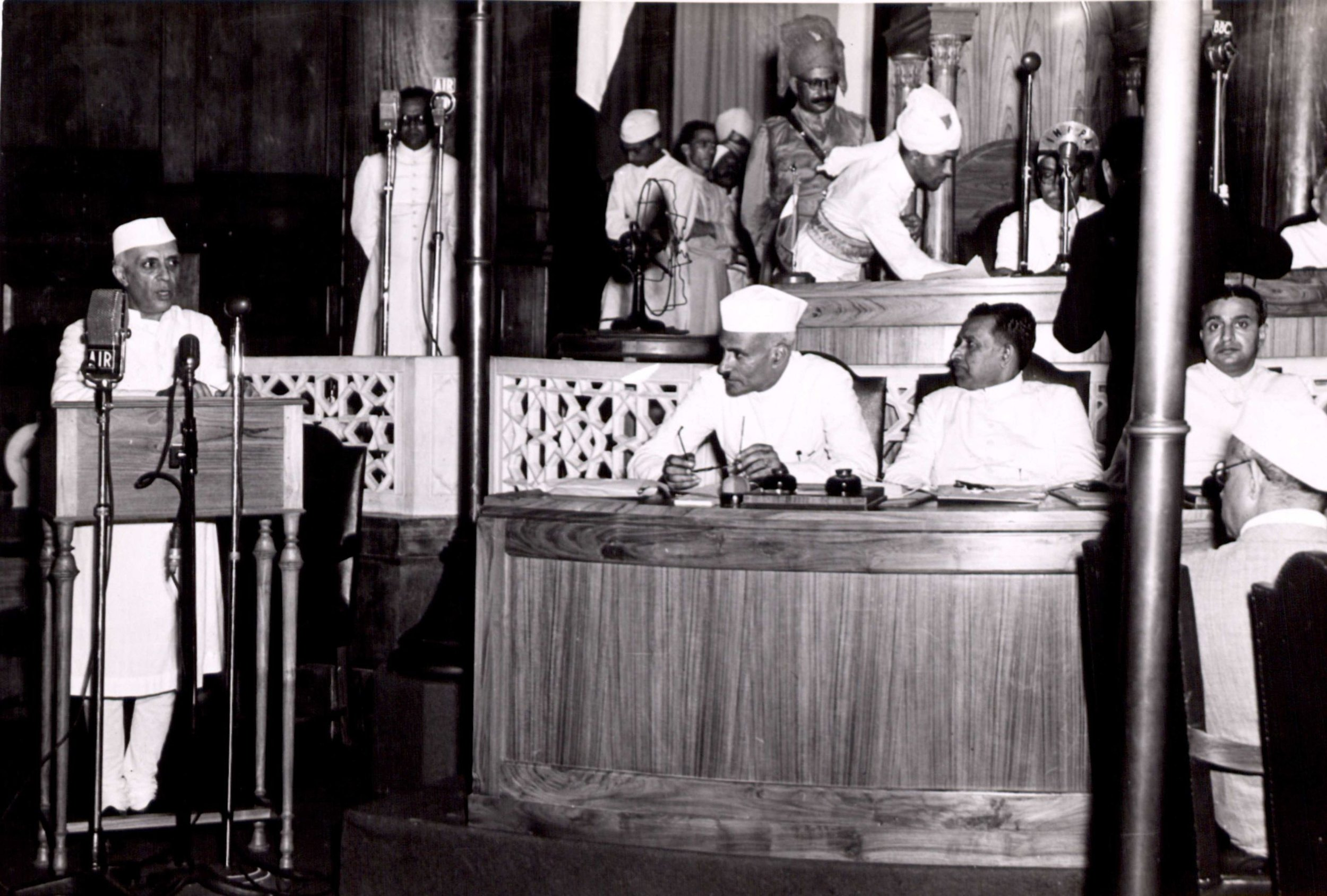 Nehru delivery 'Tryst with Destiny' speech