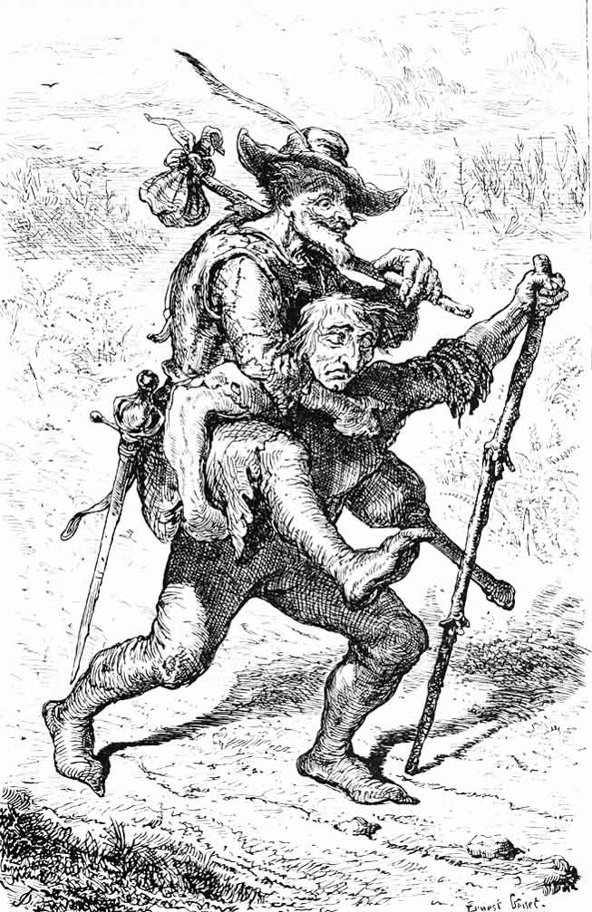 The Blind Man and The Lame Man, Aesop's Tale