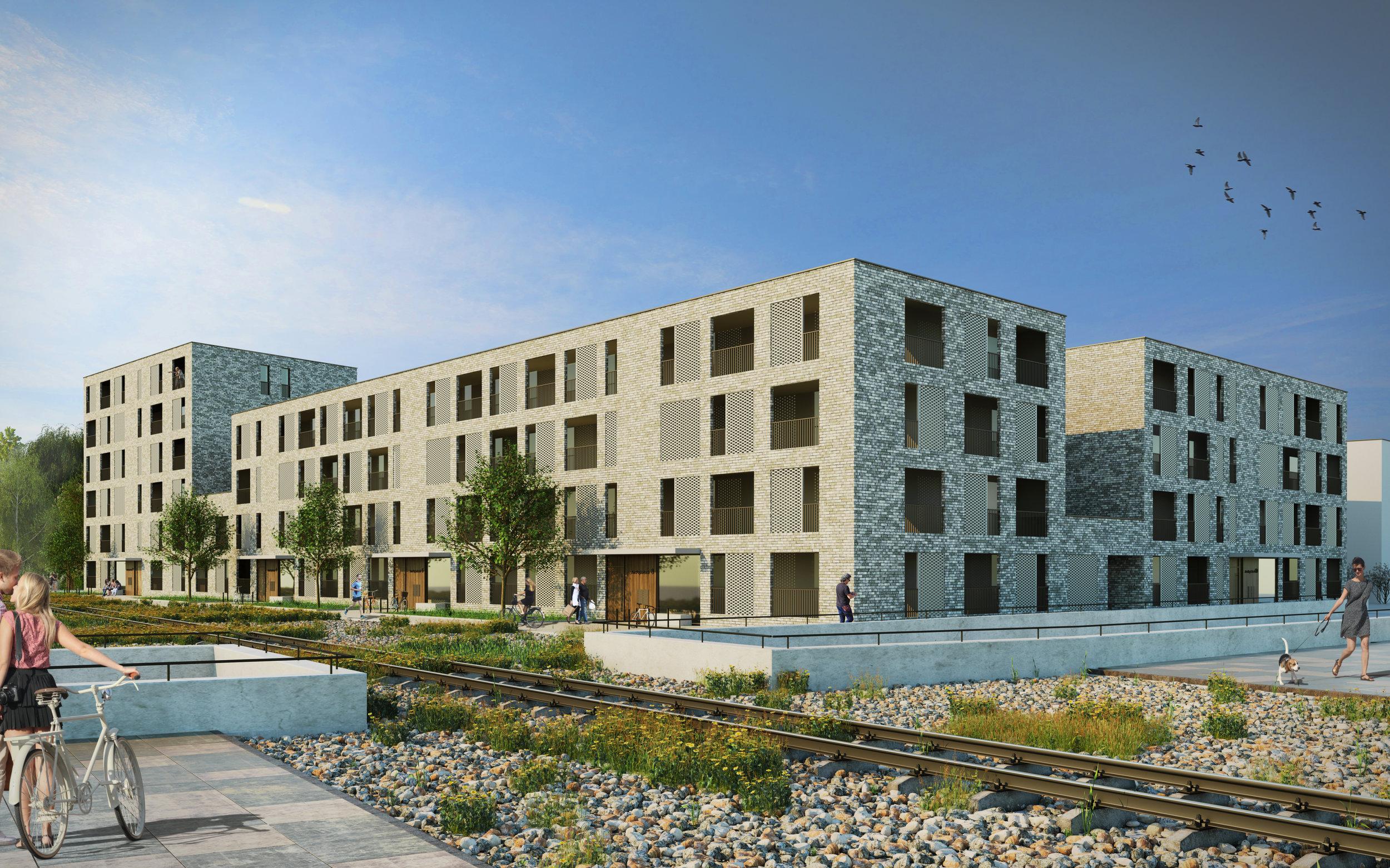 Wettbewerbsvisualisierung Papierbach Landsberg