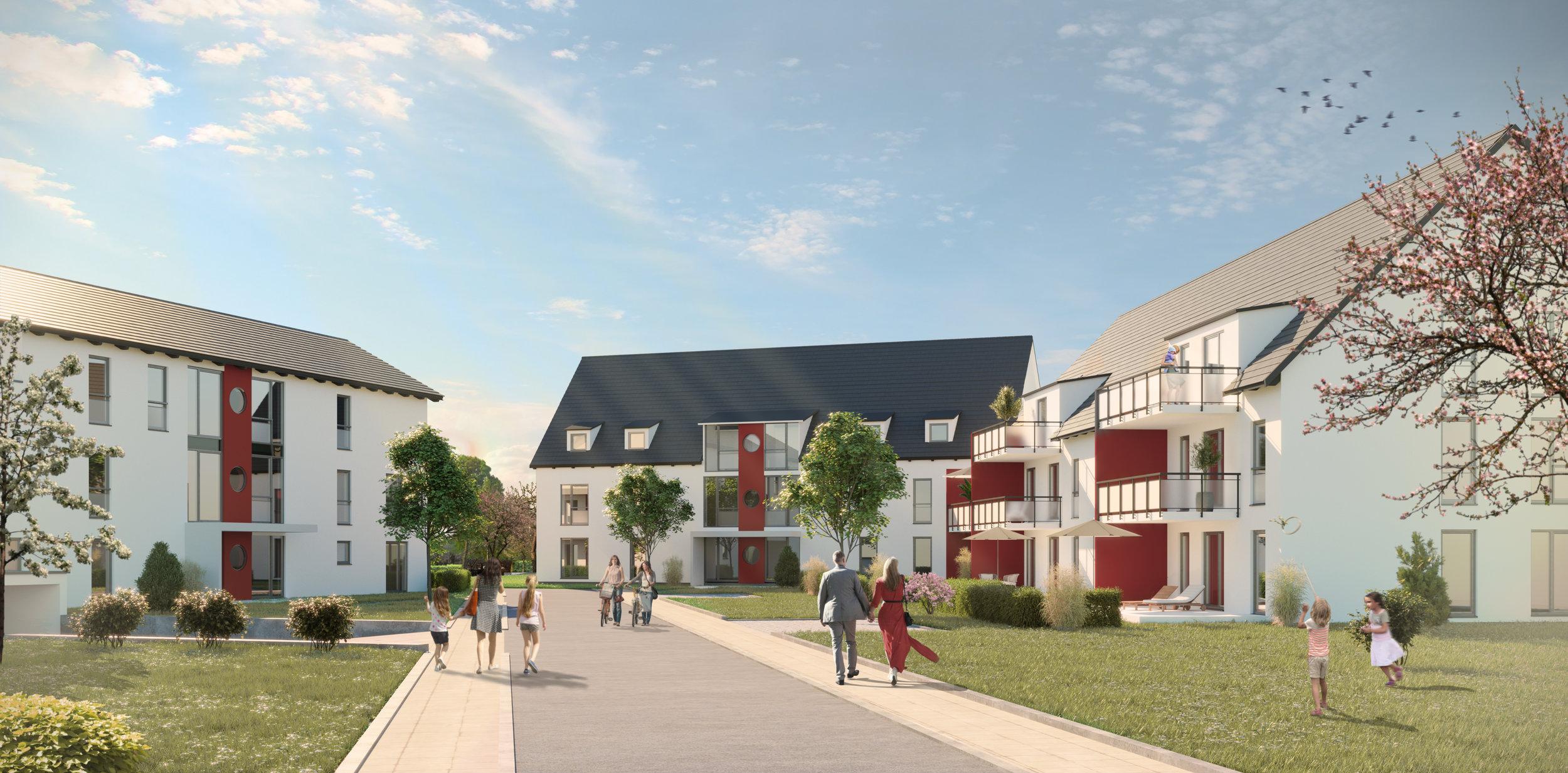 Visualisierung Wohnen in Horgau