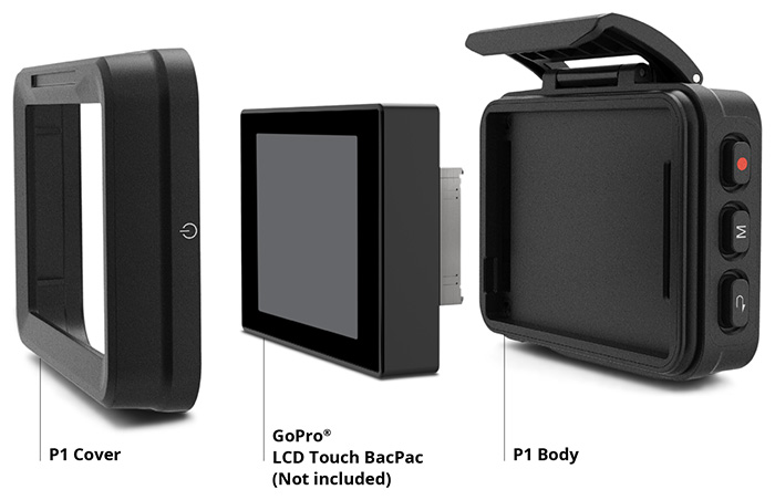 REMOVU P1 - This device turns your GoPro LCD Touch BacPac into a wearable live viewer + remote for GoPro HERO3, 3+ and HERO4. GoPro users can now enjoy the Wi-Fi live view while they are in action.