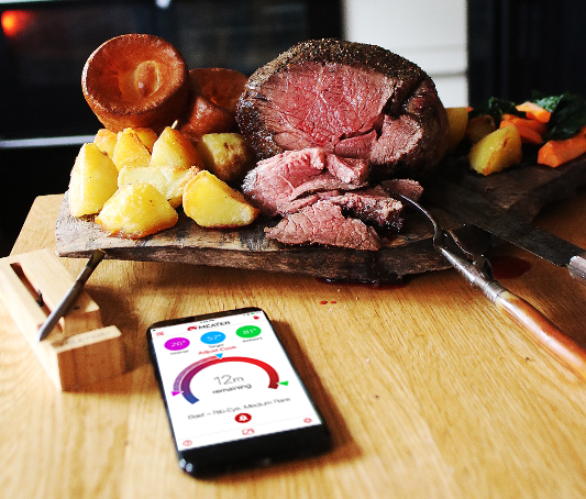 Dummy proof design. - Easy to use is an understatement. MEATER and MEATER+ are probably the easiest kitchen tools you've ever used. Simply stick it into your meat, fish or veggies and start the app.