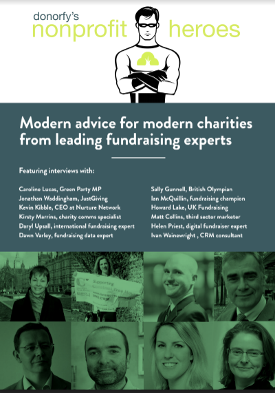 Donorfy CRM Nonprofit Heroes Ebook Cover