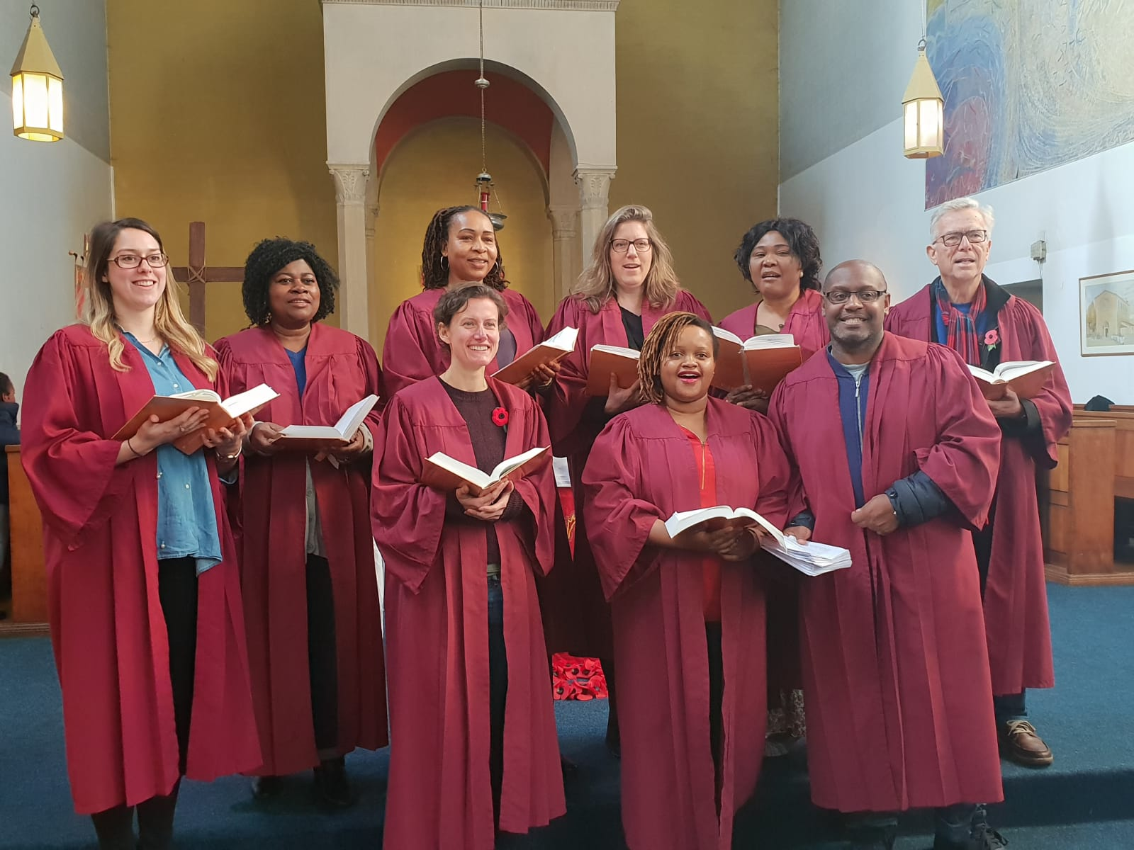 Sunday morning choir at St Anselm's