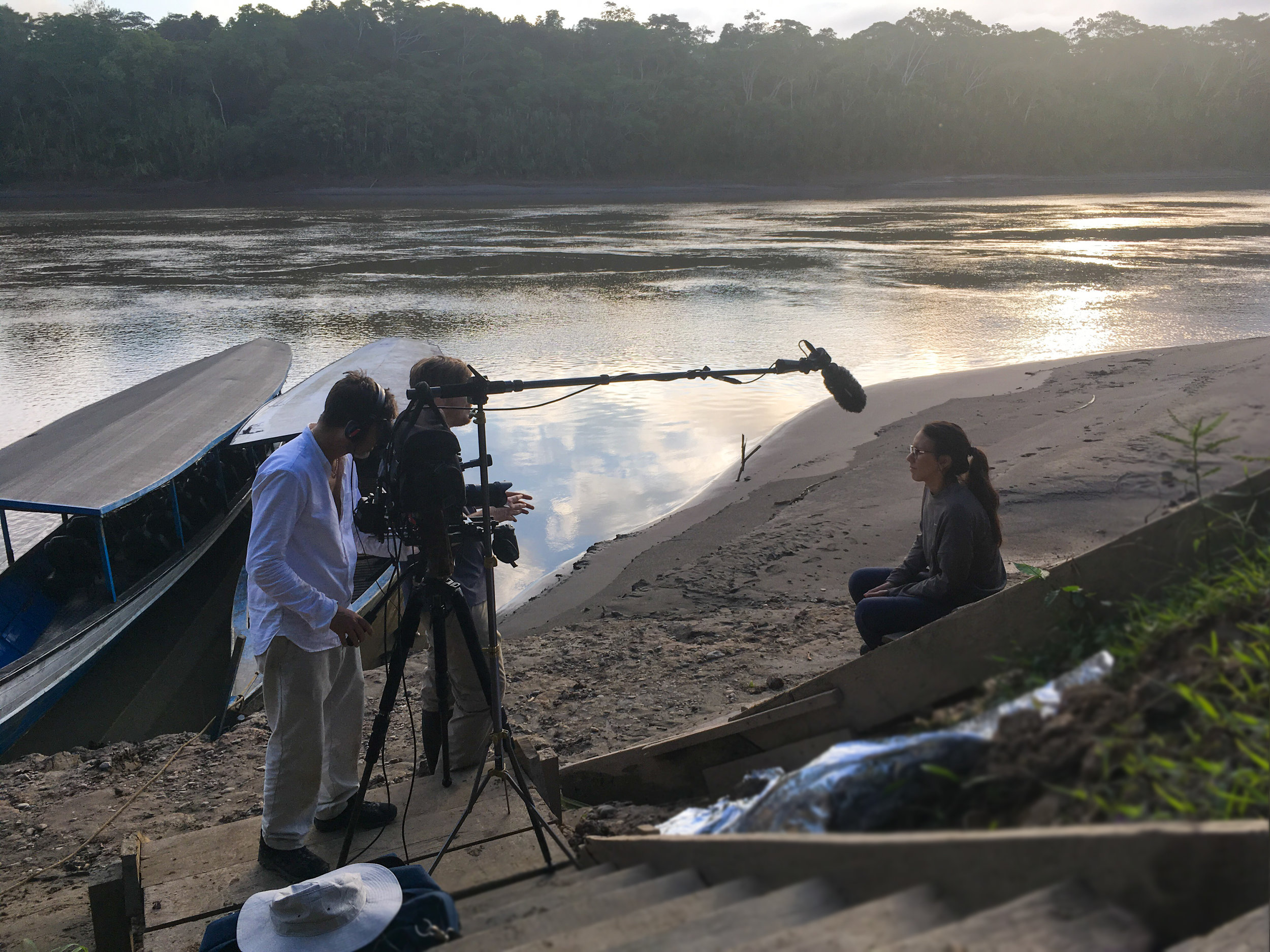 Filming at Los Amigos Biological Station Peru Amazon for Nature / Pulitzer 2019