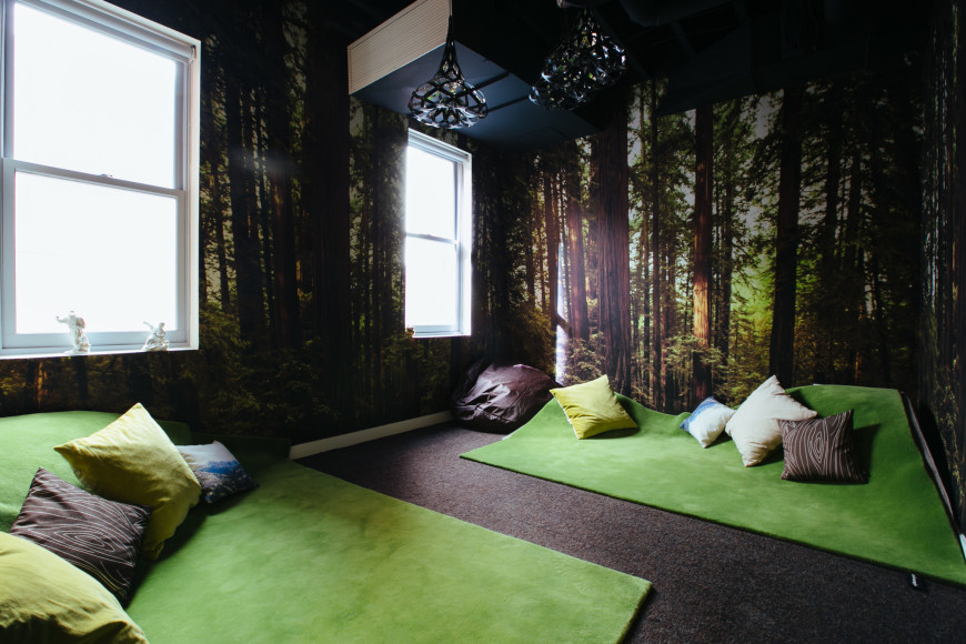 meditation room biophilic green eco design biofilico