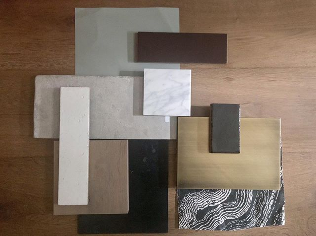 Conceiving a finish palette for a house is all about balance.  The most interesting rooms combine smooth with rough, shiny with matte, hard with soft and so on.  After laying these out for a new project we quickly realized we had too much smooth! Currently revising........ . . . . . . . . . . . .  #thehappynow #theartofslowliving #livebeautifully #theeverygirlathome #sodomino #myhousebeautiful #ruedaily #mydomaine #luxurydesign #luxuryhomes #houzz #maketimefordesign #interiordesign #design #styleathome #homedecor #showmeyourstyled #mybhg #elledecor #interiorinspiration #quoteoftheday #mytradhome #designinspo #clpicks #smploves #interiorstyle #ruemag #ivymark #theartofliving #studiocourier