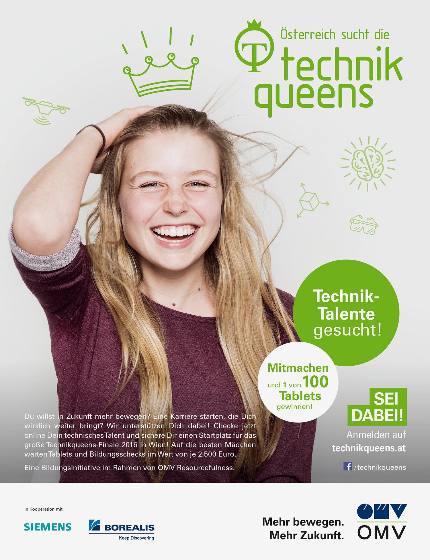 """""""Technikqueens Bildungsinitiative"""" / mehrjährige Projekt für OMV"""