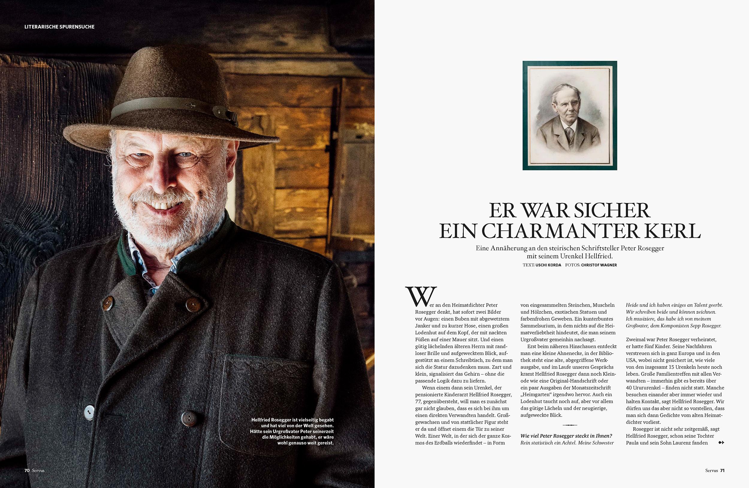 Hellfried Rosegger / Portrait für SERVUS MAGAZIN