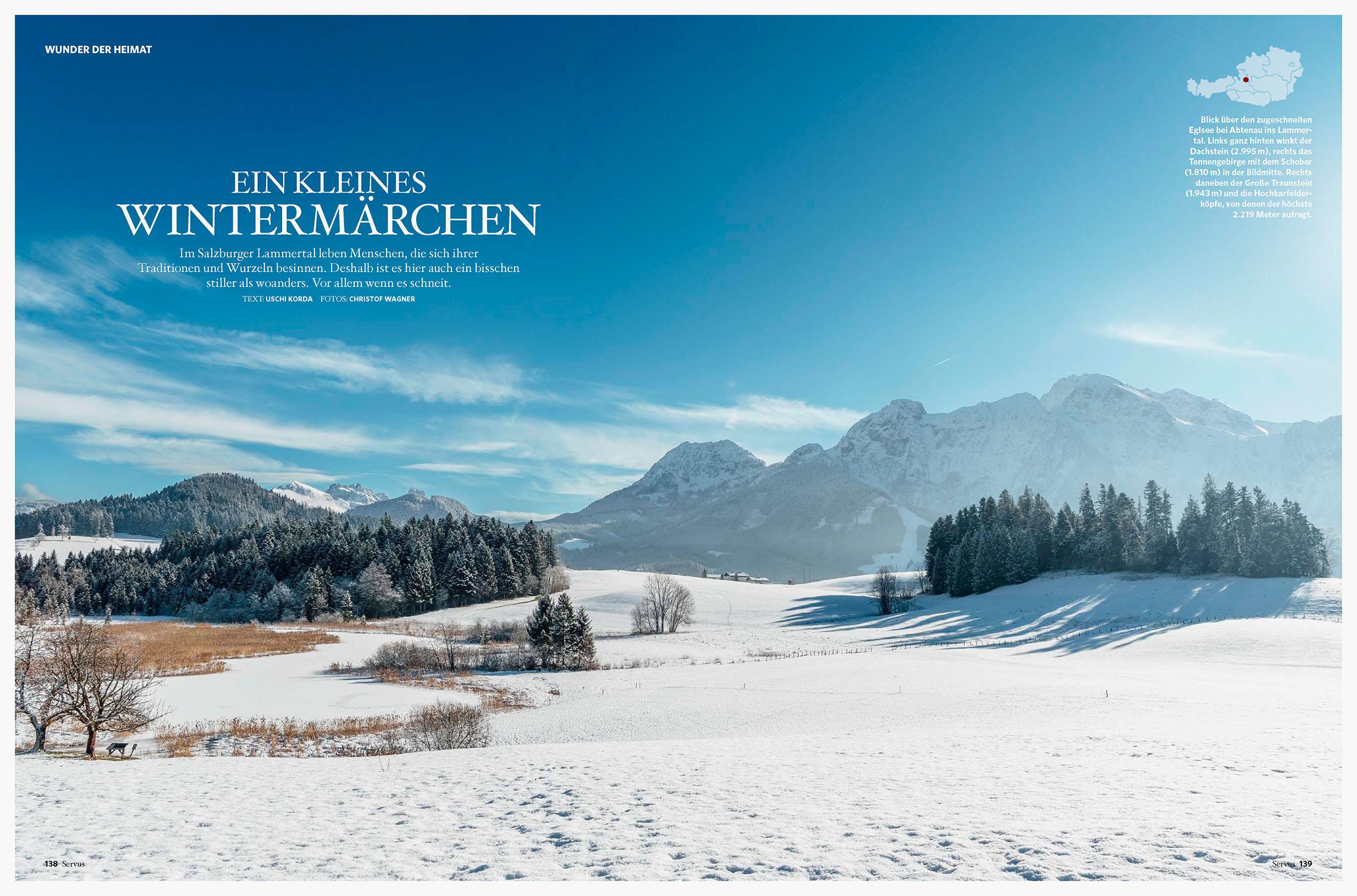 """12seitige Reportage """"Wunder der Heimat"""" / SERVUS 2019"""