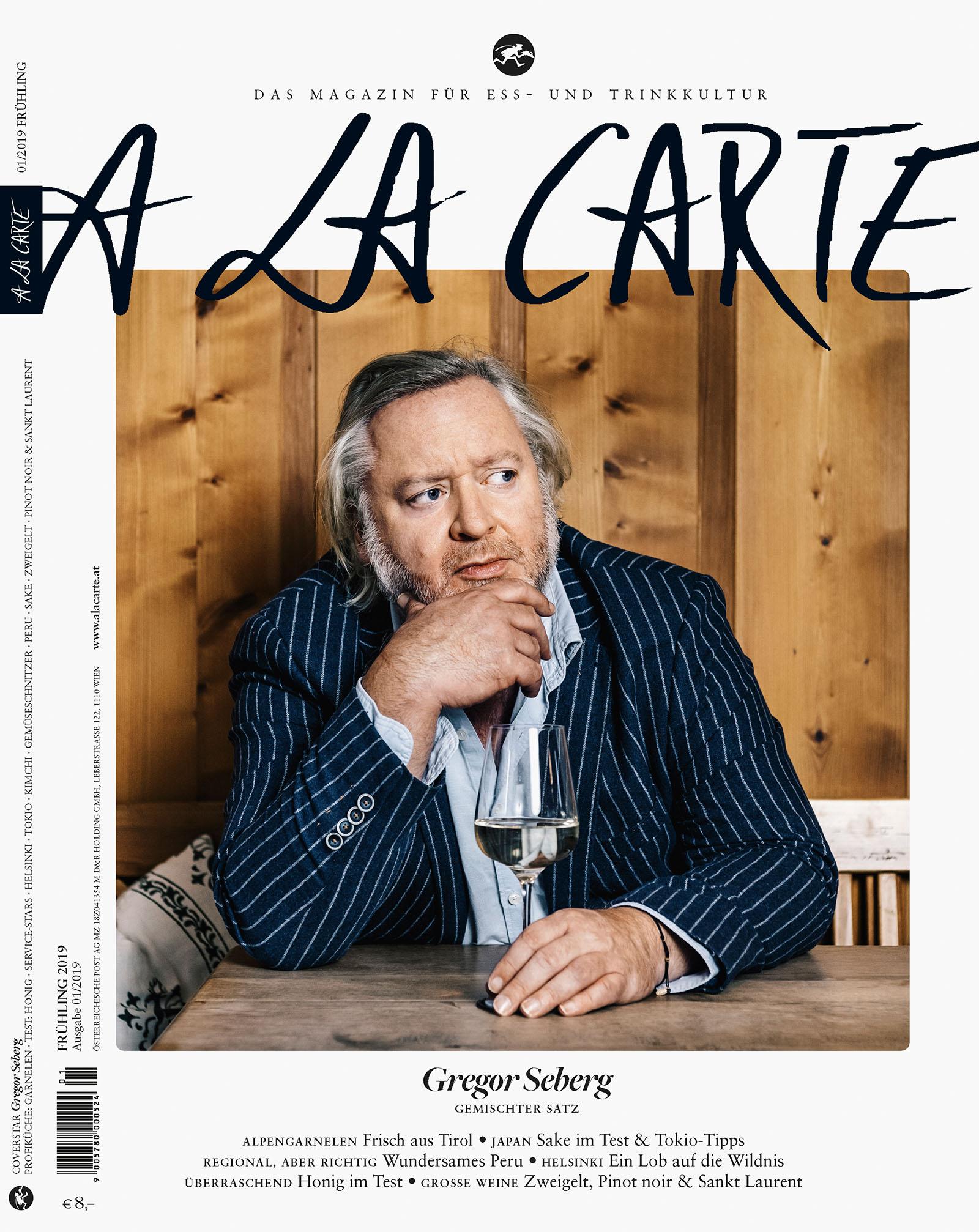 Coverstory Gregor Seberg / A LA CARTE 2019