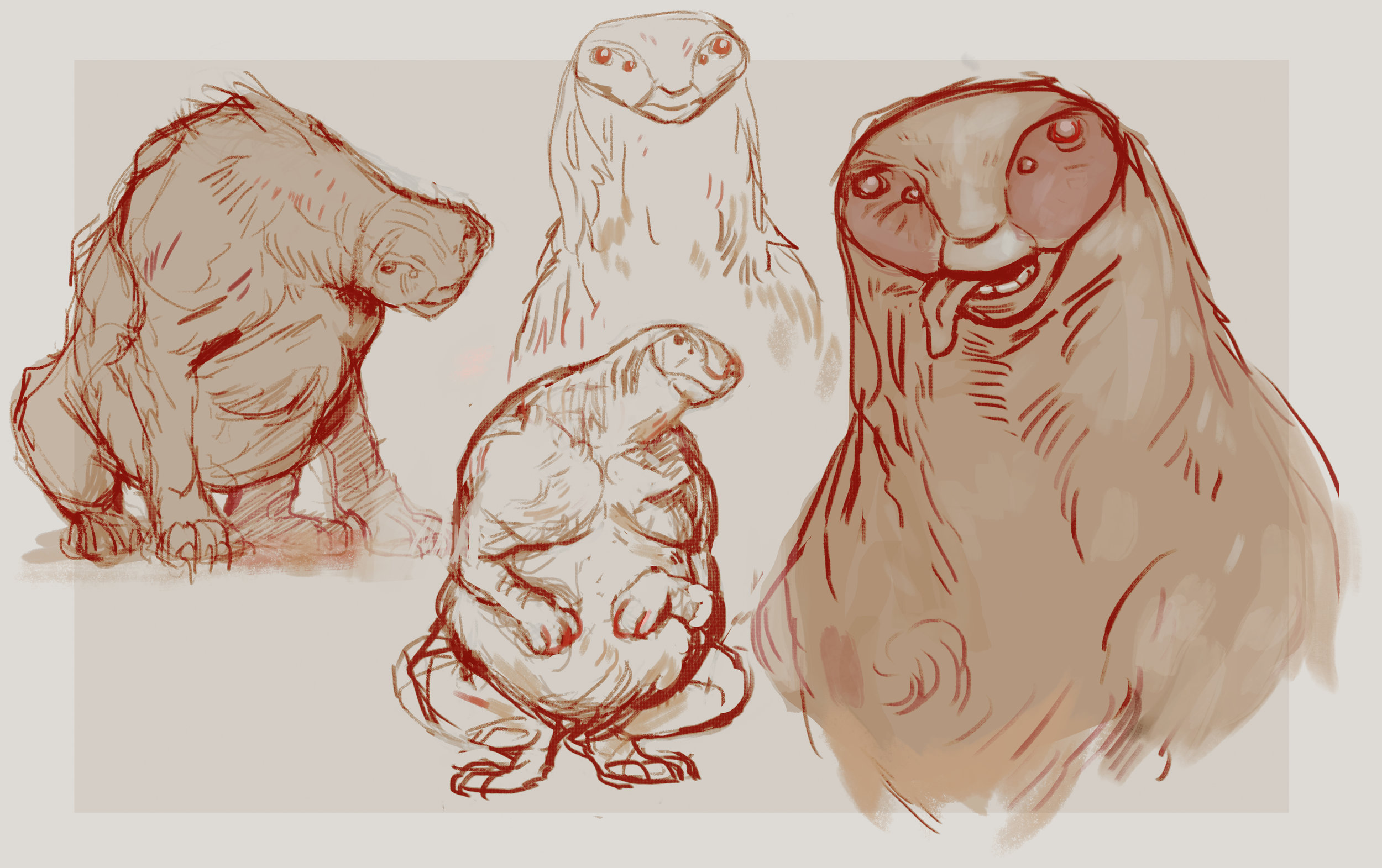 Sloth creature design, 2017.
