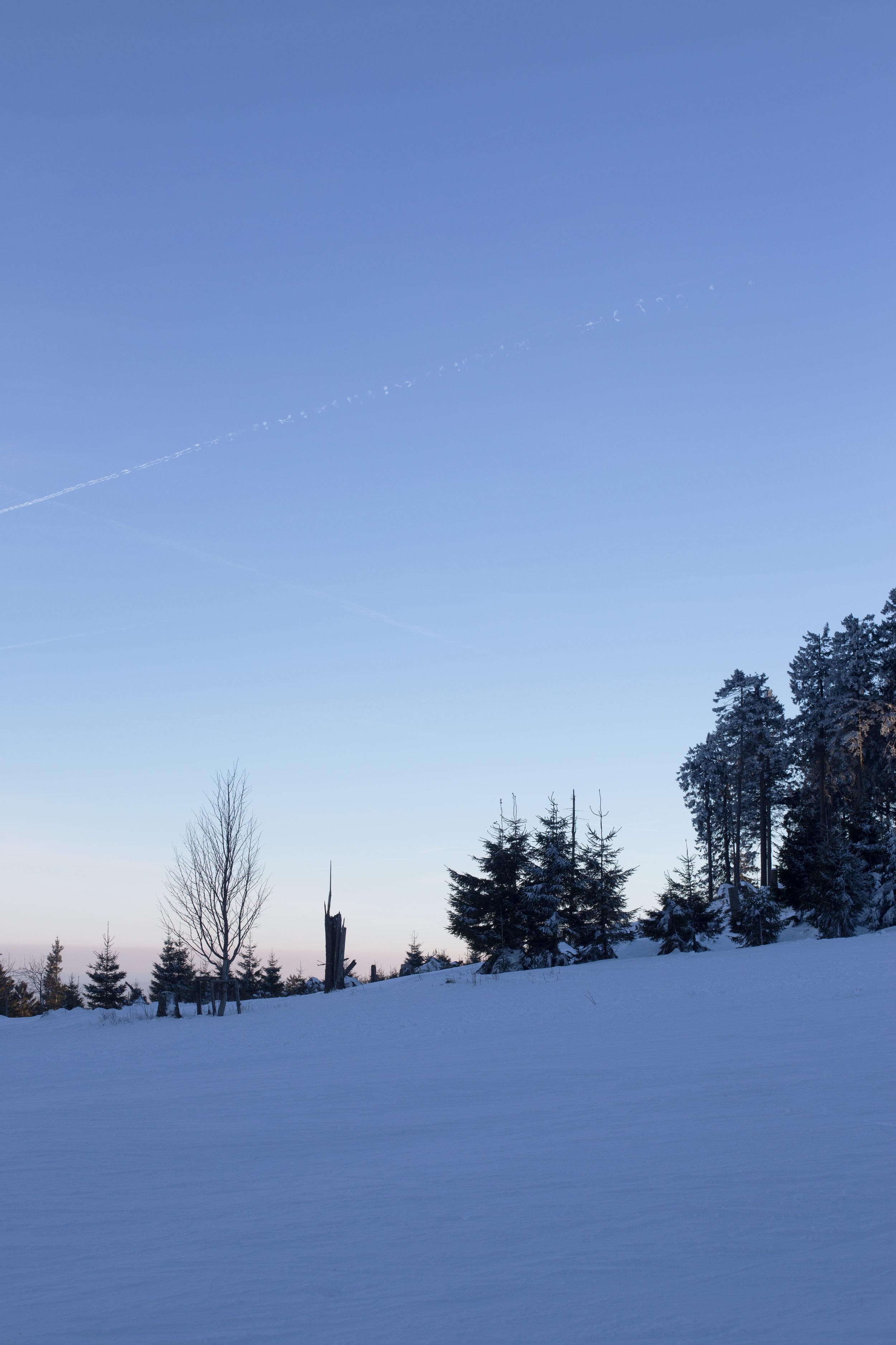 Skilaufen im Harz.