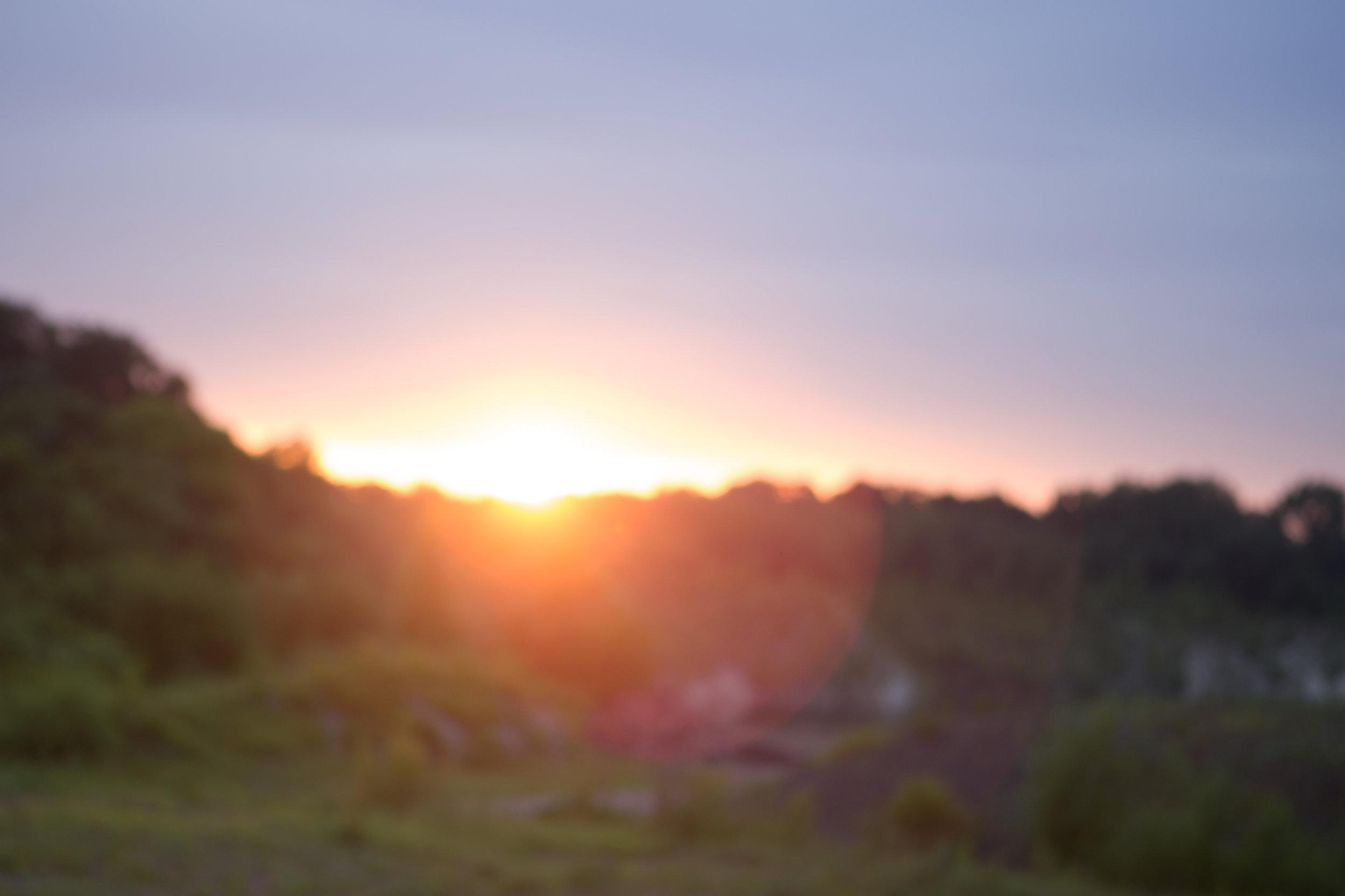 Sonnenuntergang an der Blauen Lagune.