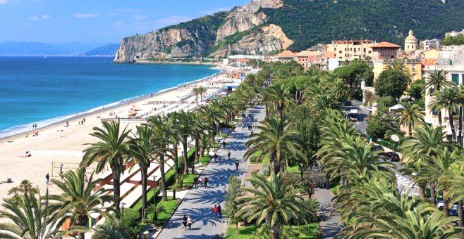 Finale Ligure beach front