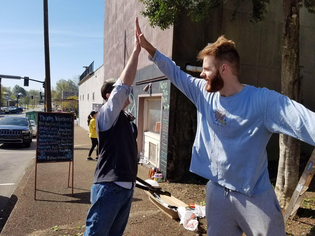Ben and Seth high five.JPG