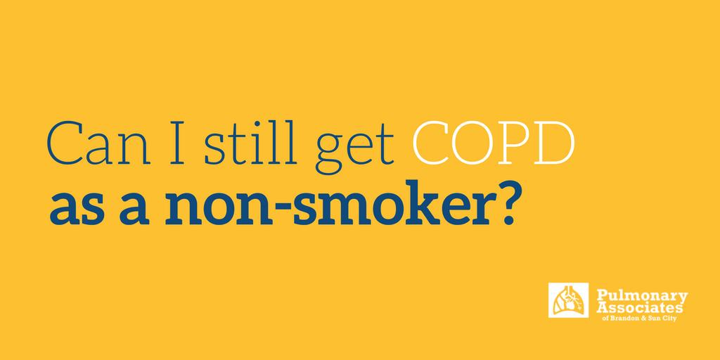 COPD as a non-smoker