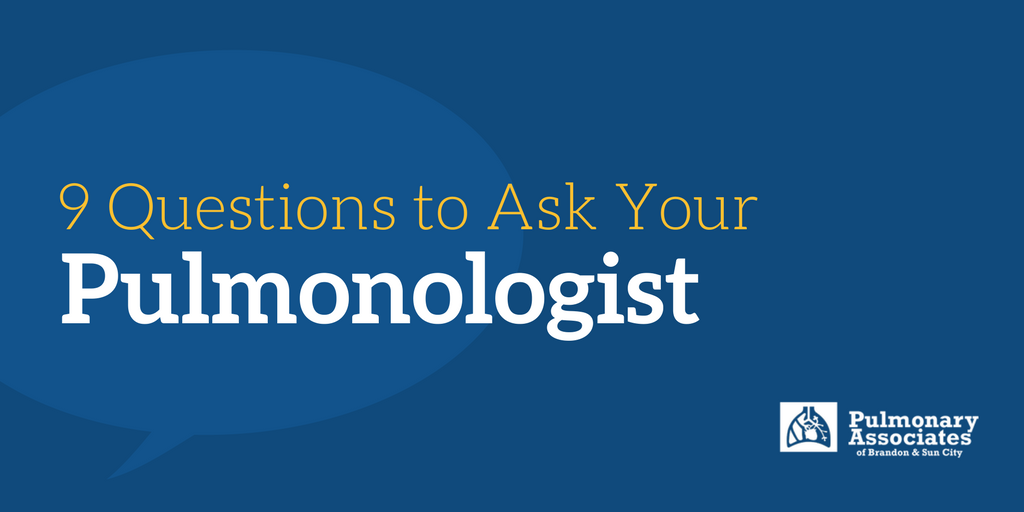 what should you ask your pulmonologist